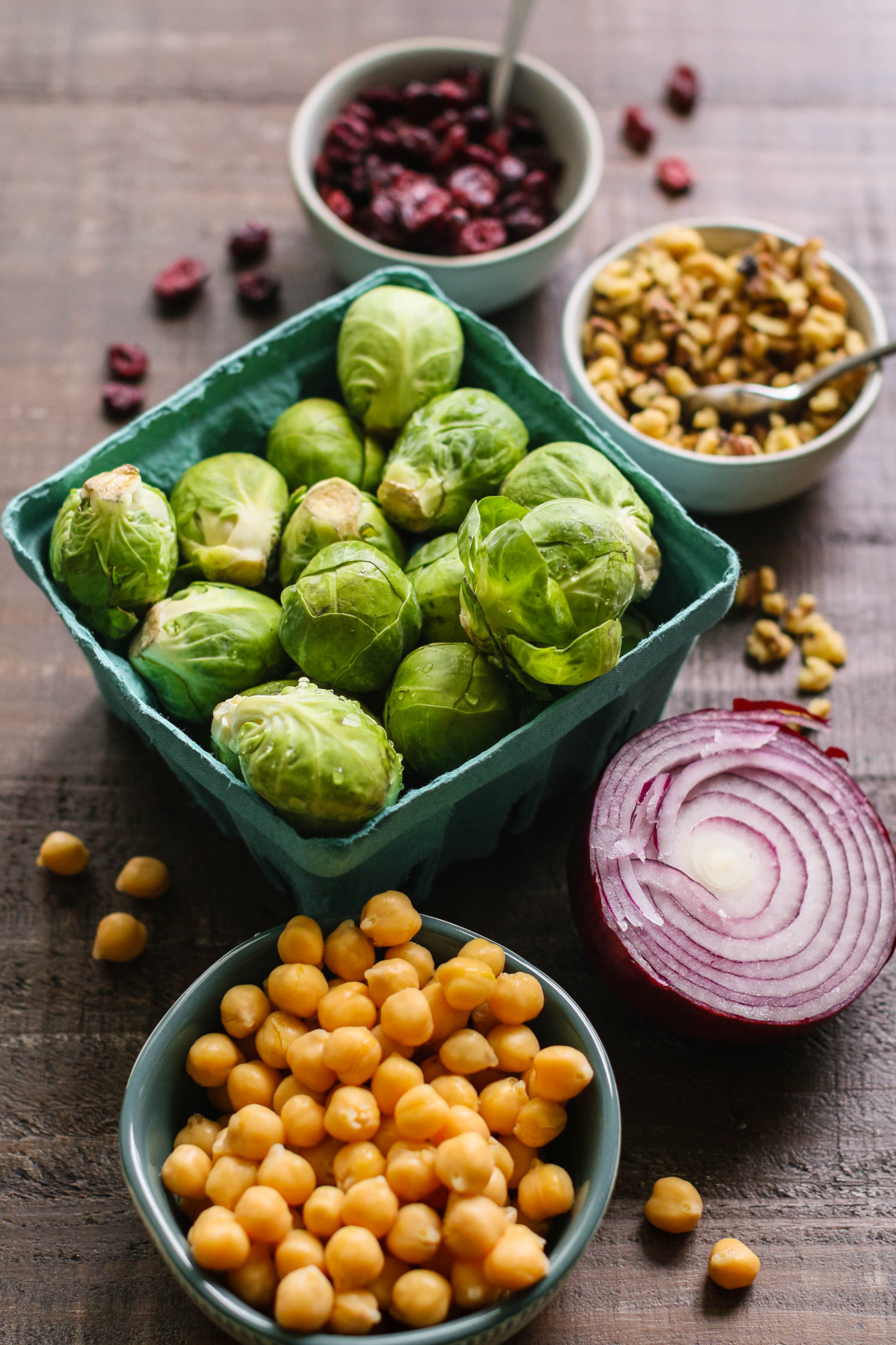 1-Pan Maple Balsamic Brussels Sprouts & Chickpeas Ingredients