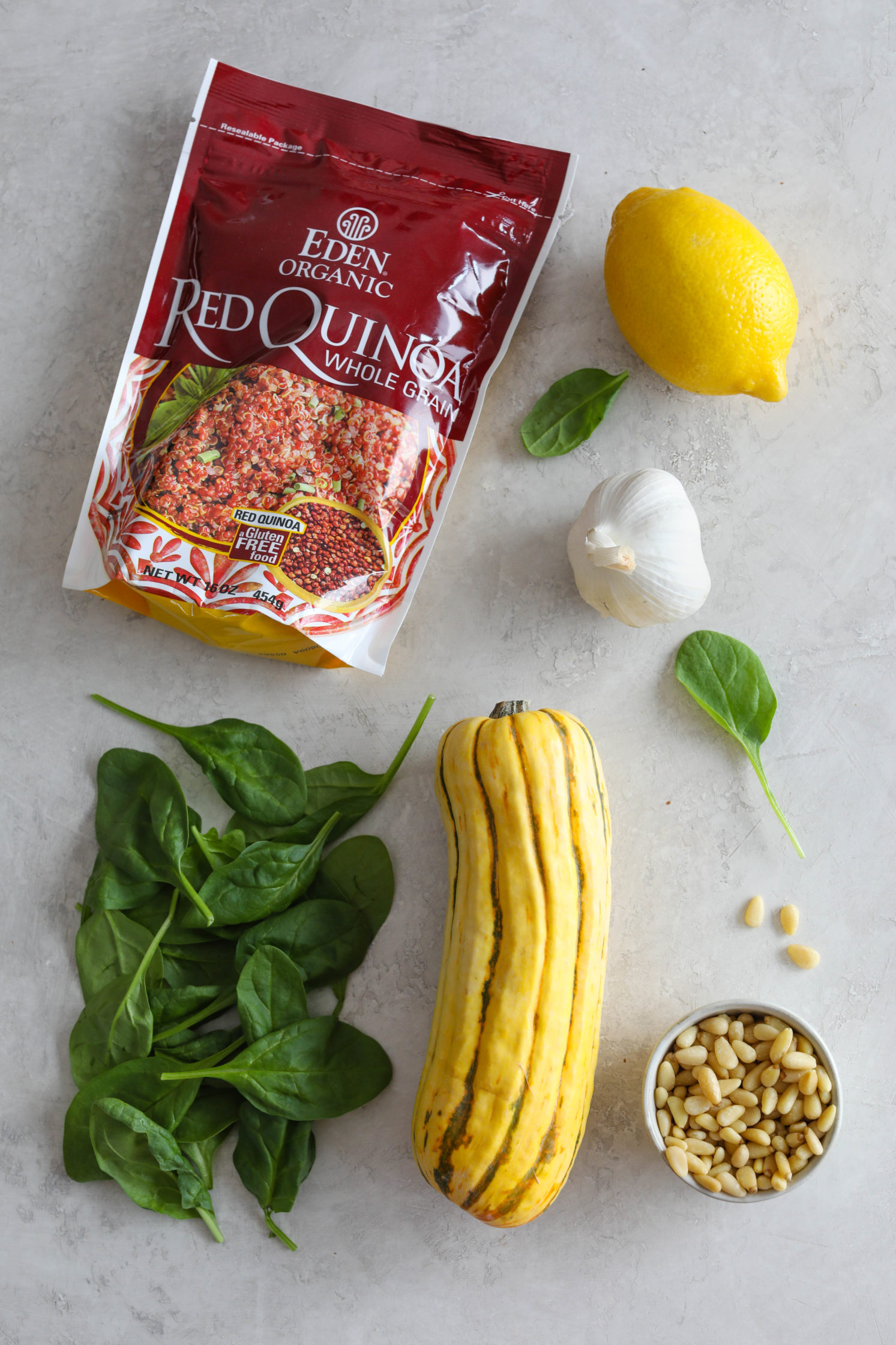 Delicata Squash Quinoa Power Bowl Ingredients