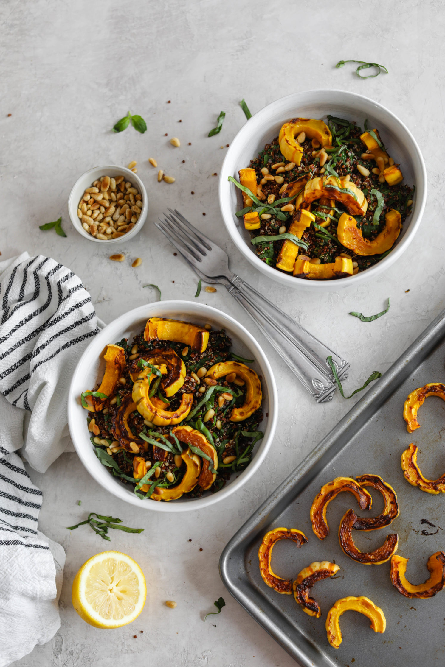 Delicata Squash Quinoa Power Bowl by Flora & Vino