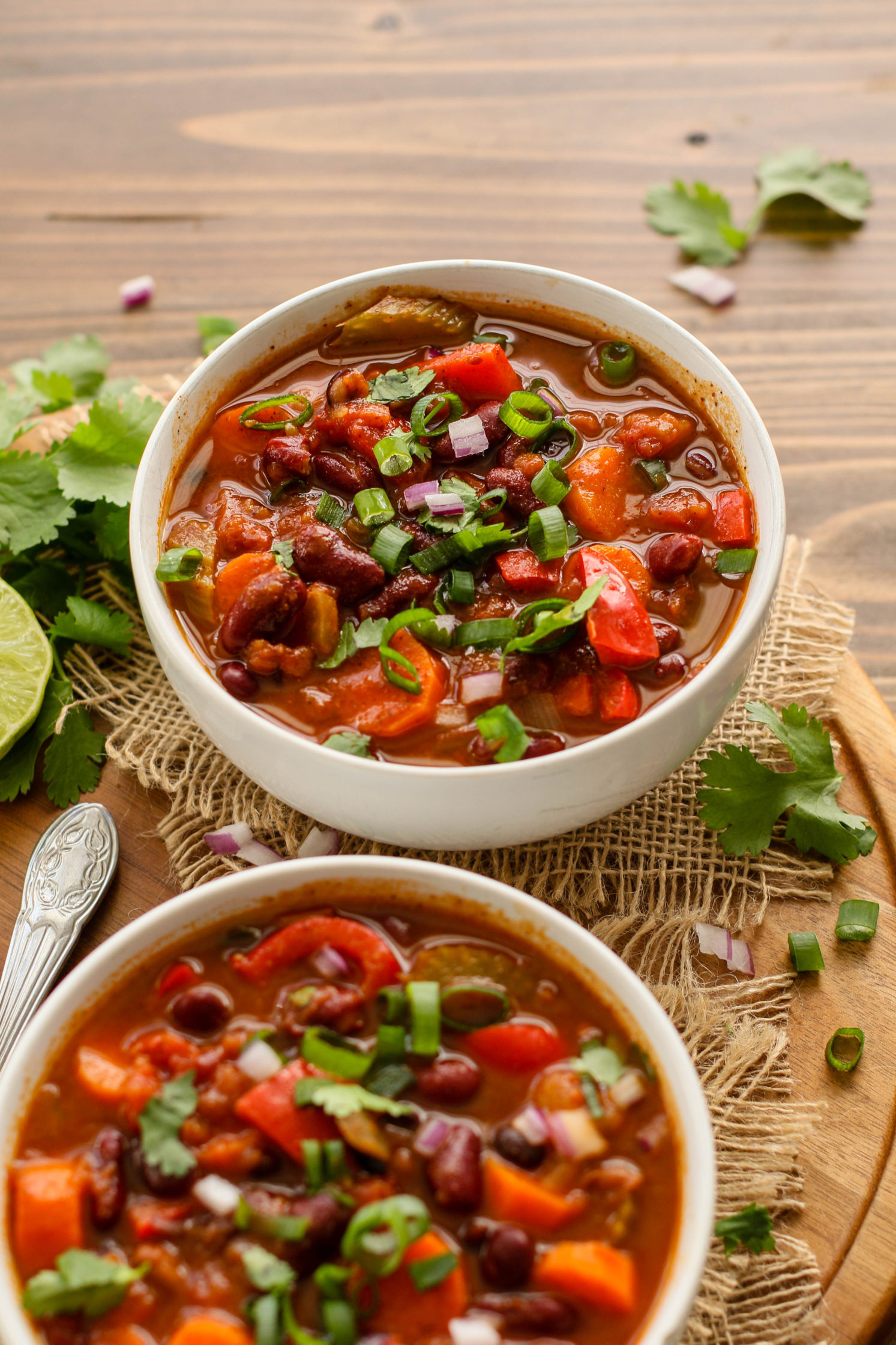 """""""Clean out the Fridge"""" Vegetable Chili by Flora & Vino"""