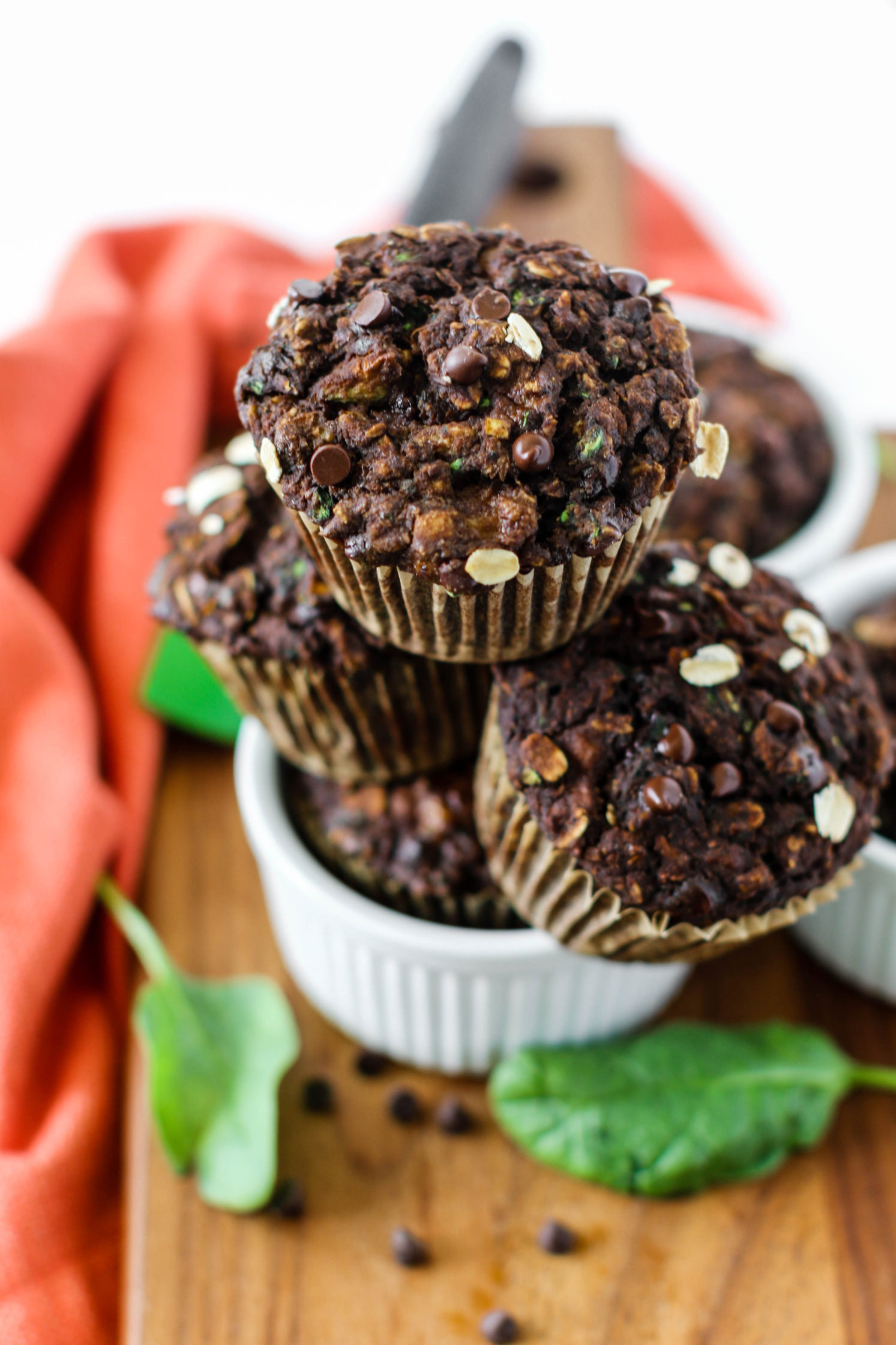 Double Chocolate Double Green Zucchini Muffins