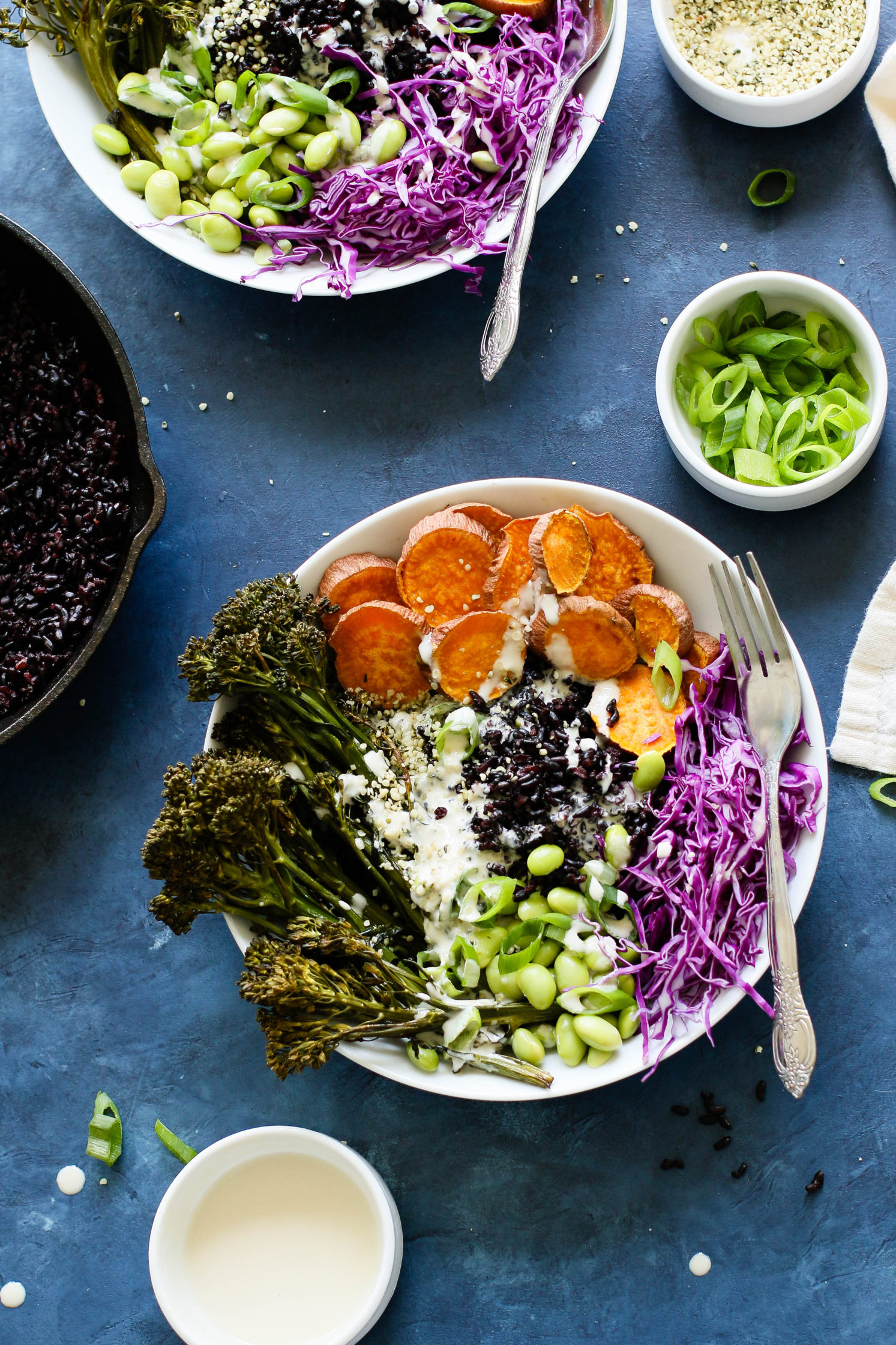Sweet Potato & Forbidden Rice Power Bowls with Miso Tahini