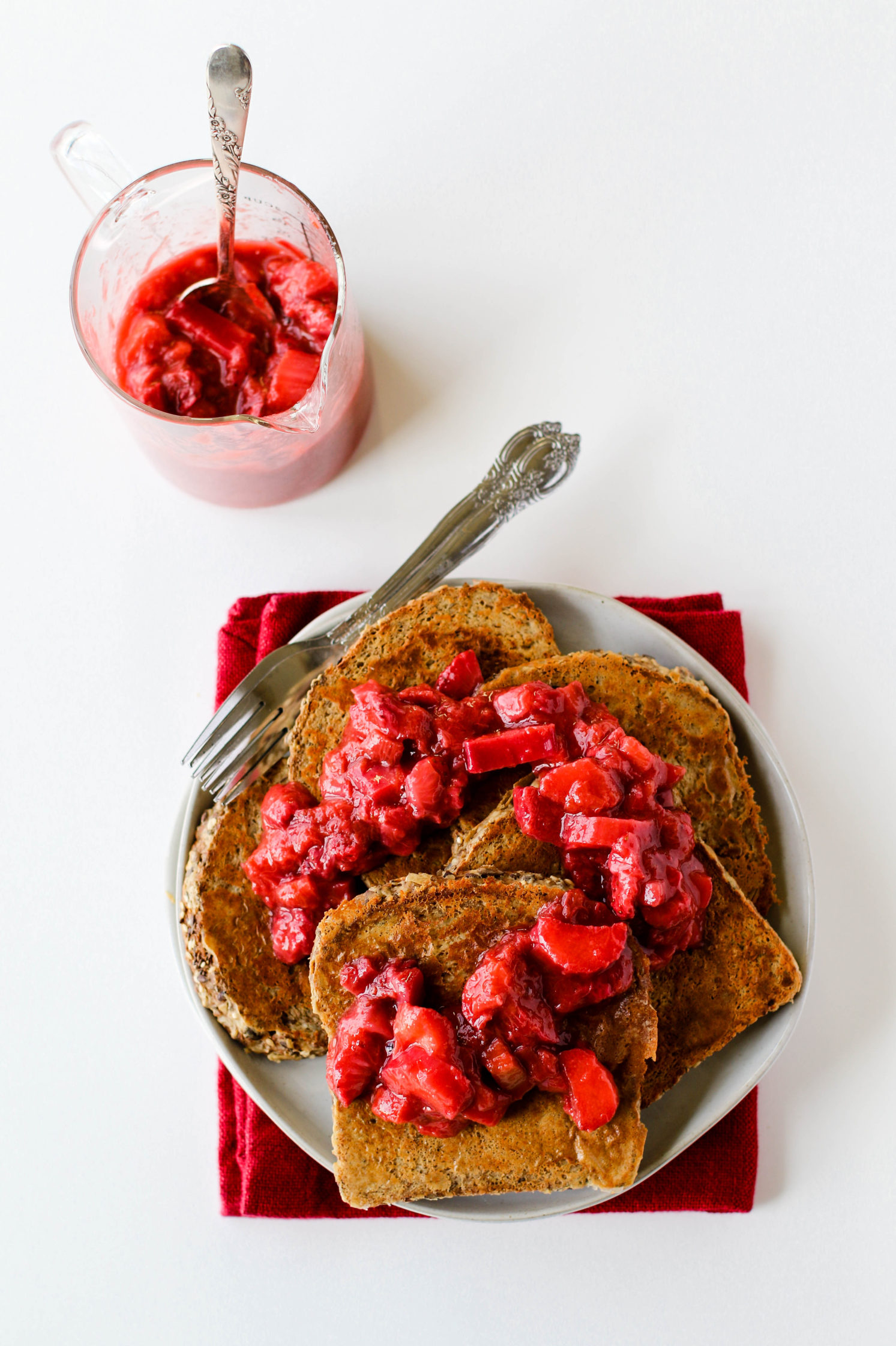 Strawberry Rhubarb French Toast