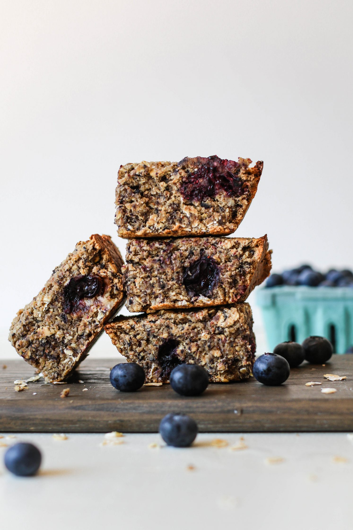 Blueberry Maple Baked Breakfast Bars by Flora & Vino