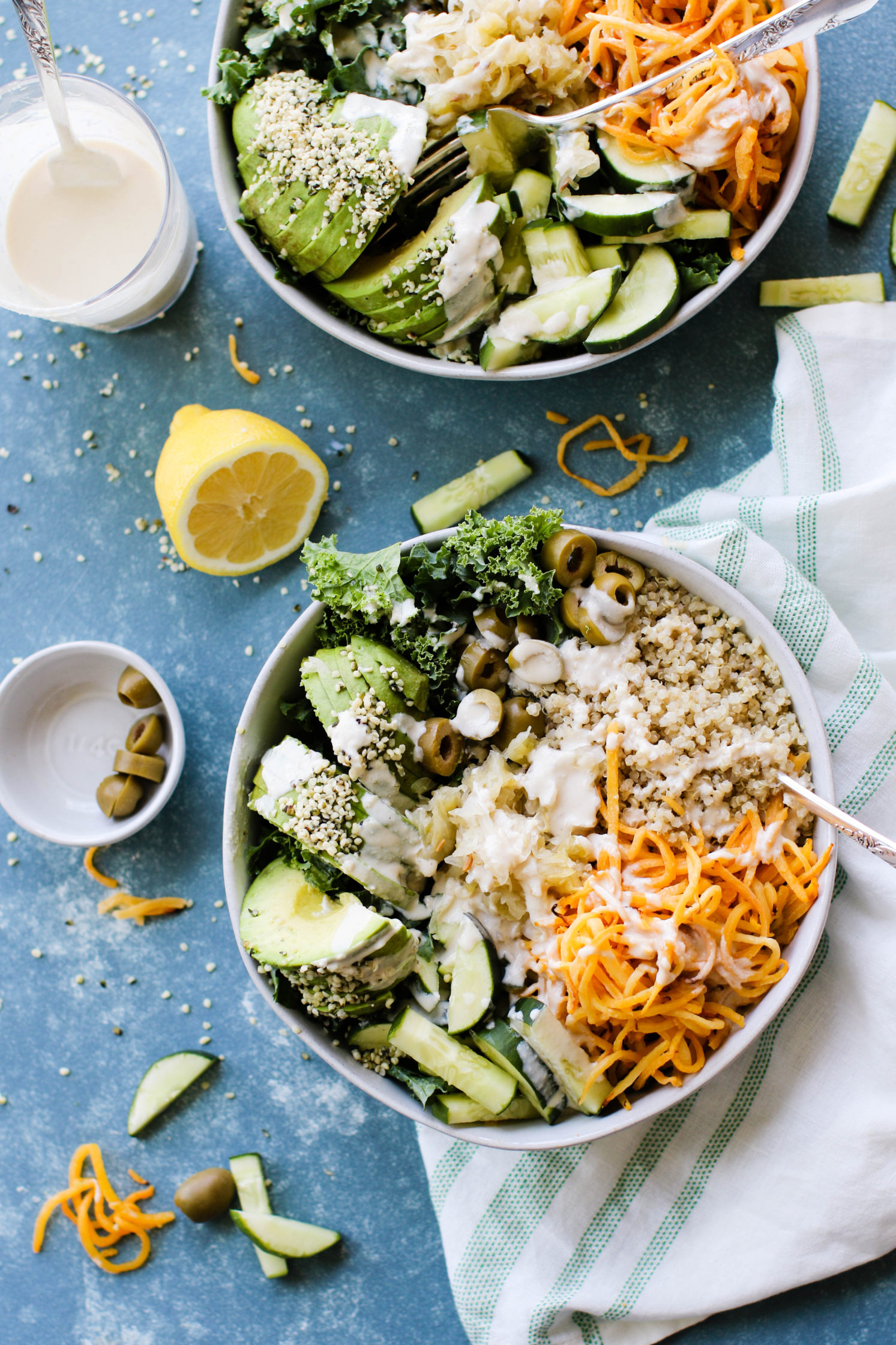 Sweet & Savory Macro Bowl with Lemon Tahini Dressing