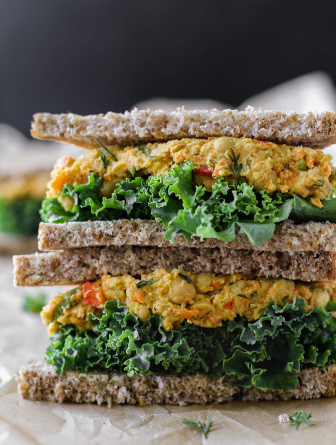 """Eggy"" Veggie Chickpea Salad Sandwiches by Flora & Vino"