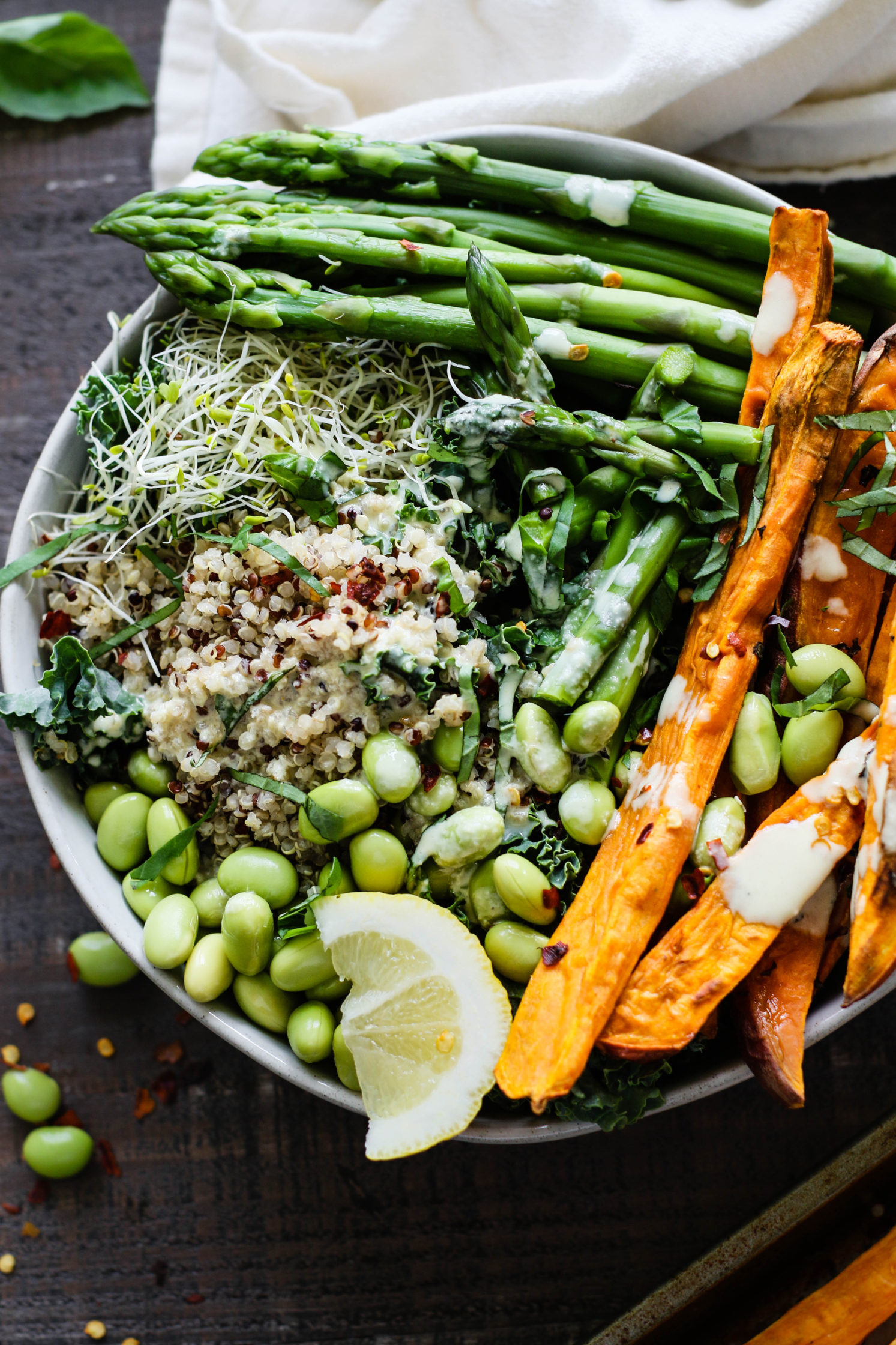 Lemon Basil Buddha Bowls with Lemon Tahini