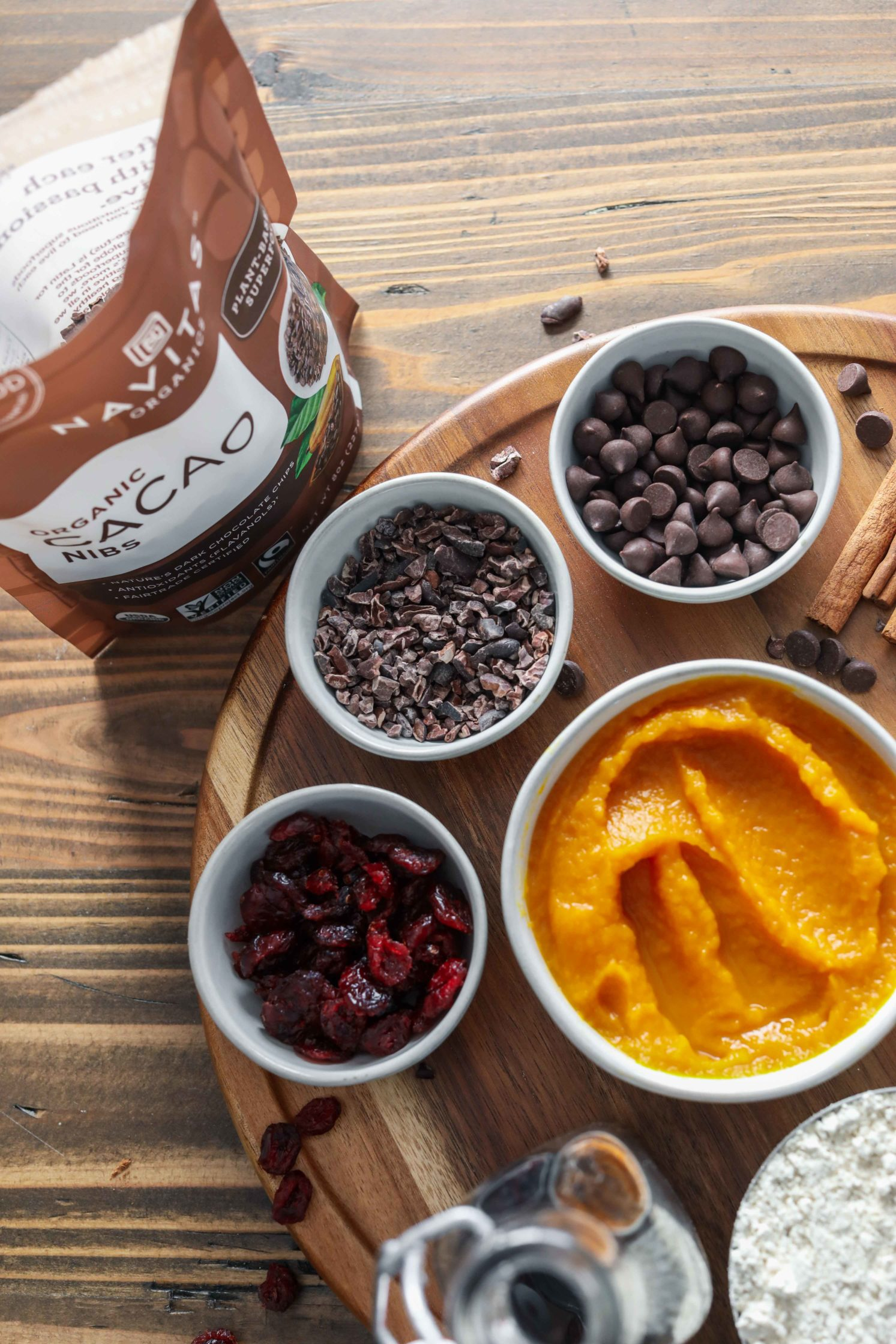 Pumpkin Cacao Cranberry Muffin Ingredients