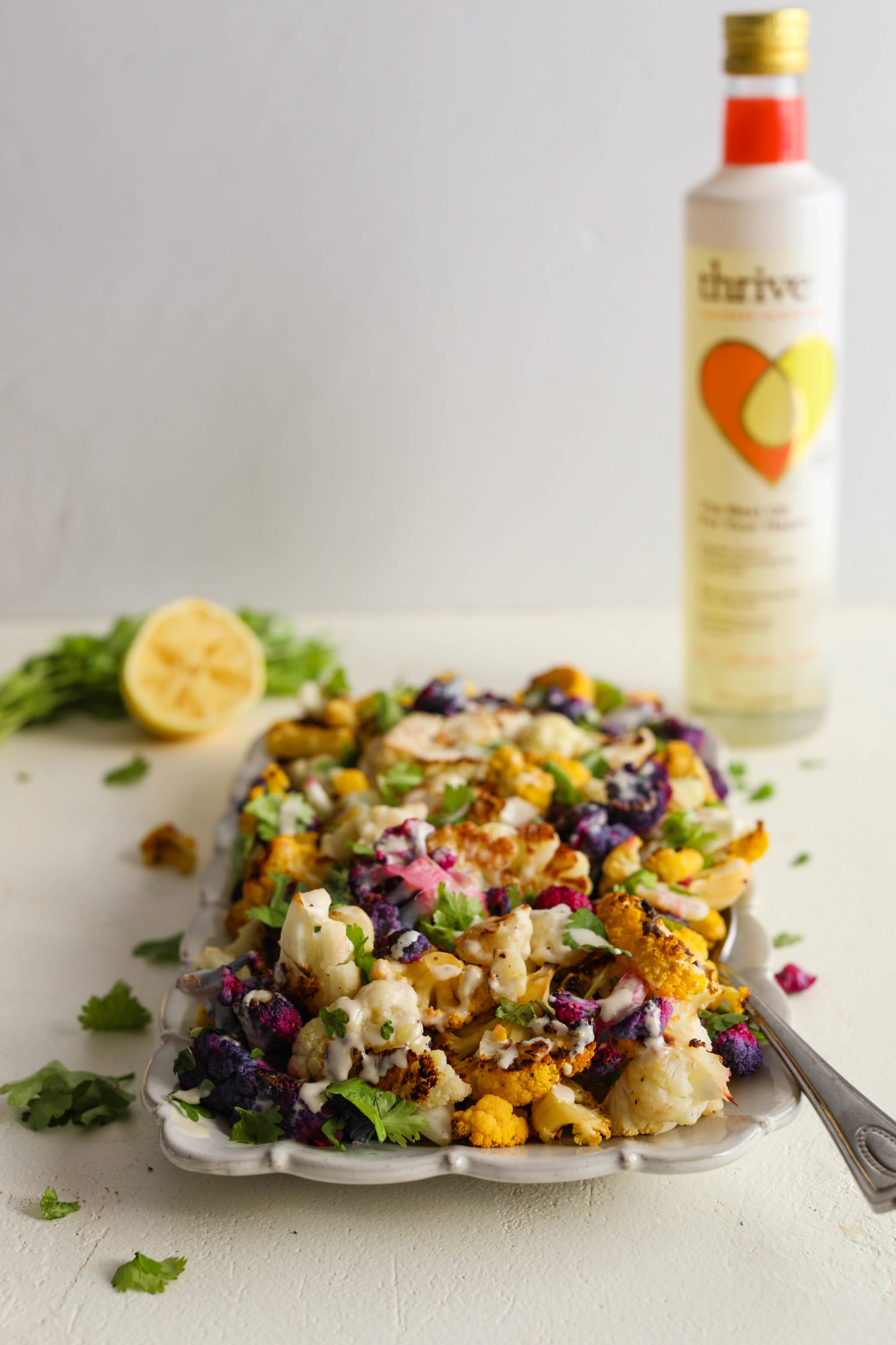 Tri-Colored Roasted Cauliflower Salad by Flora & Vino