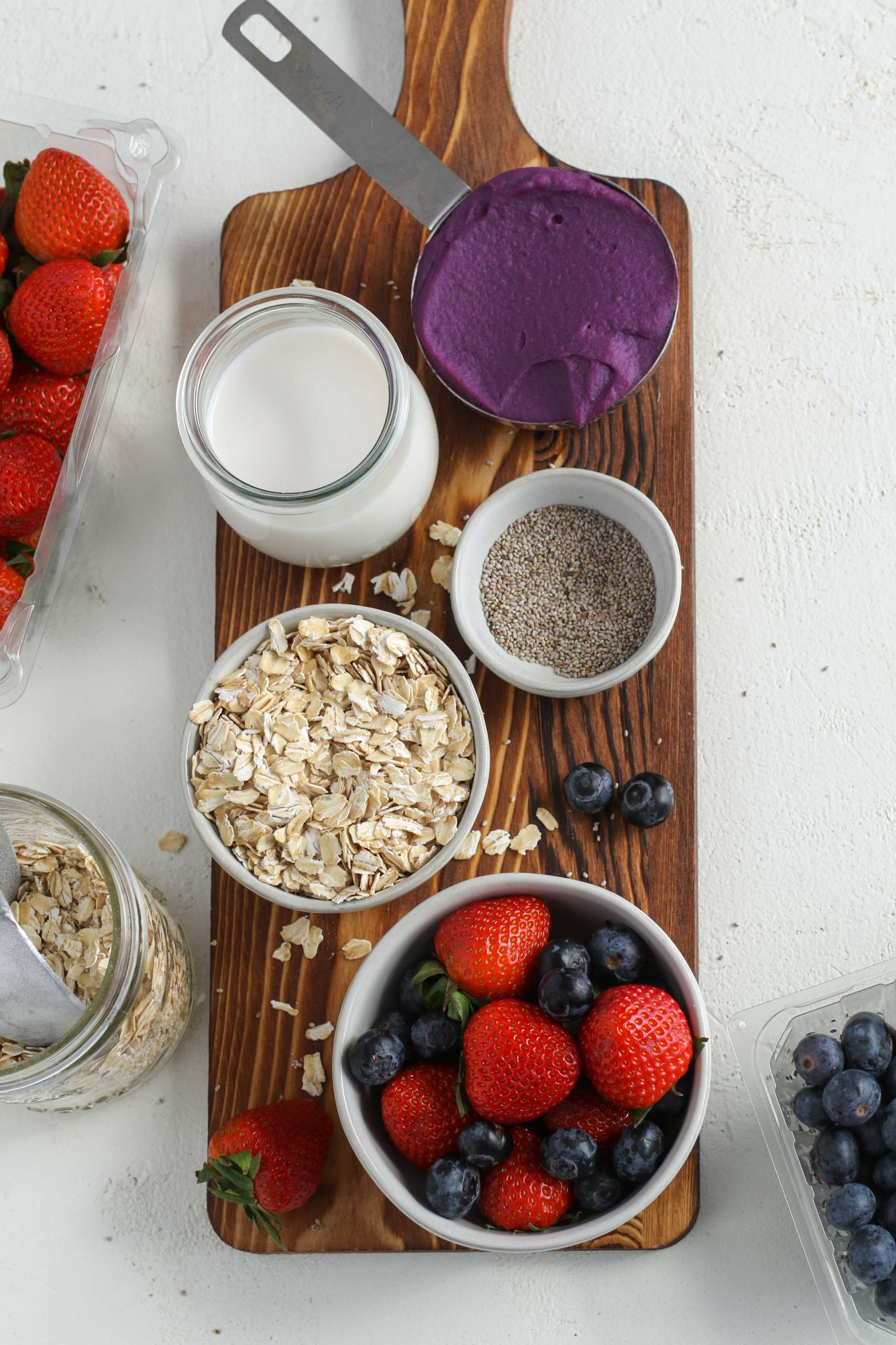 Purple Sweet Potato Overnight Oats Ingredients