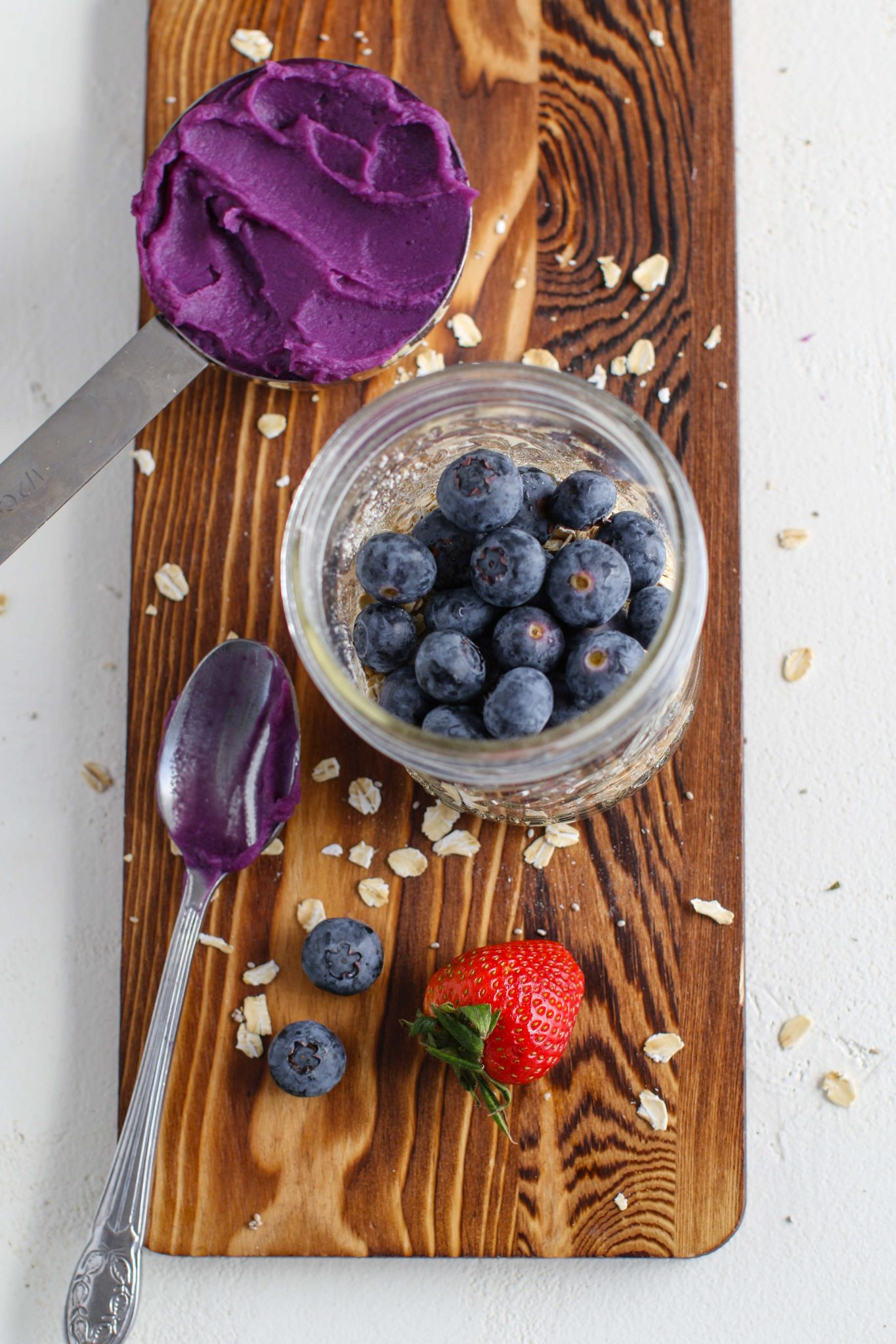 Purple Sweet Potato Overnight Oats Mixed