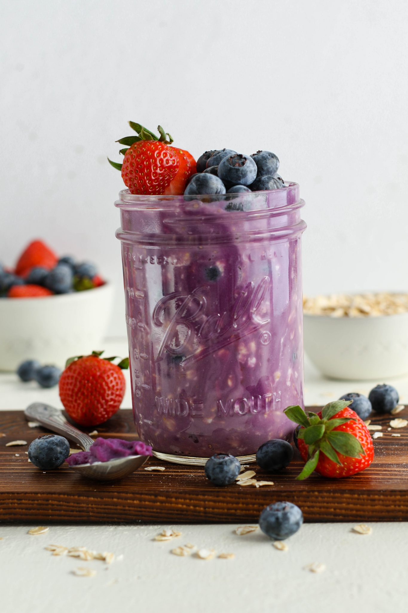 Purple Sweet Potato Overnight Oats by Flora & Vino