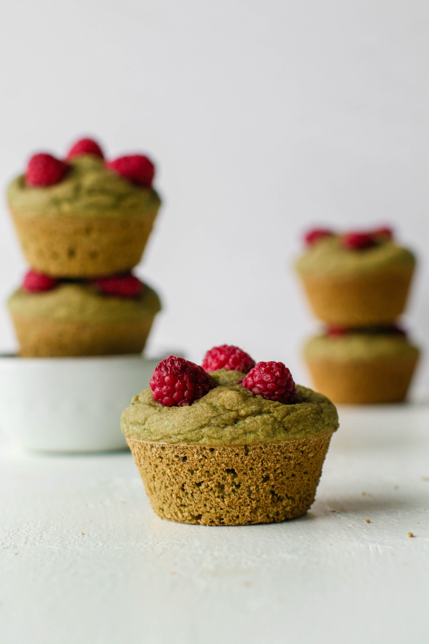 1-Bowl Matcha Muffins with Raspberries by Flora & Vino