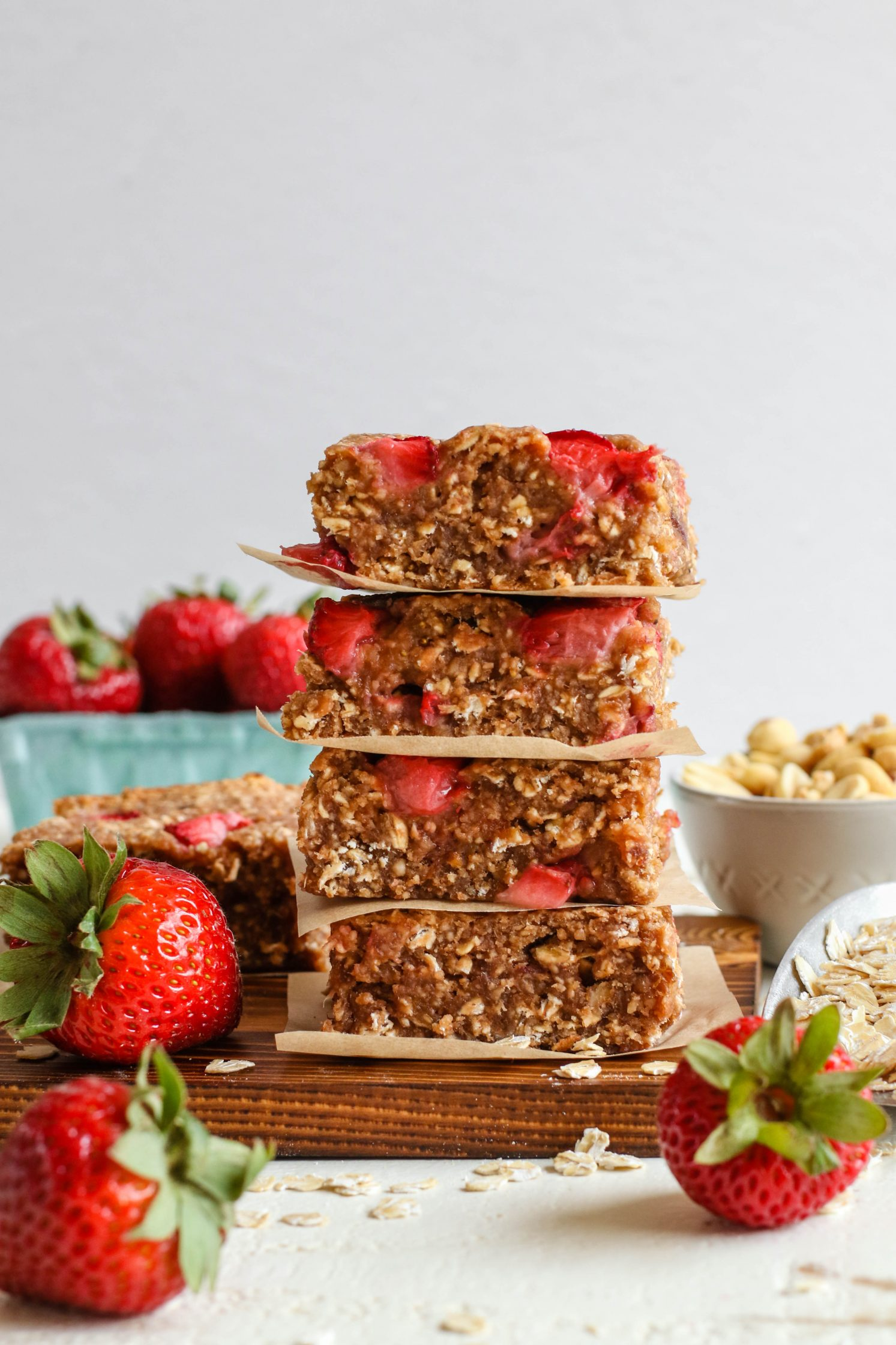 PB&J Baked Breakfast Bars by Flora & Vino