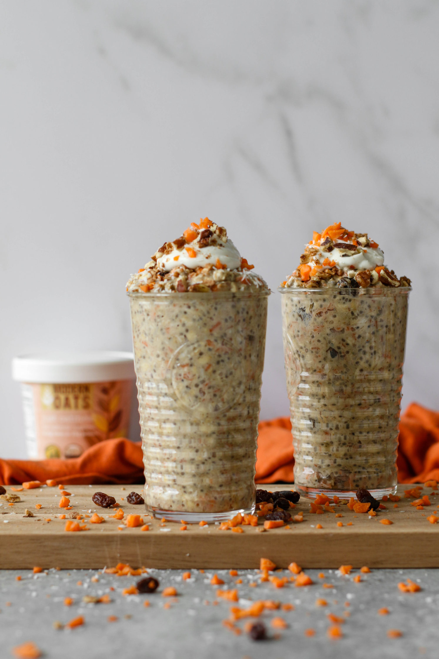 Coconut Carrot Cake Overnight Oats
