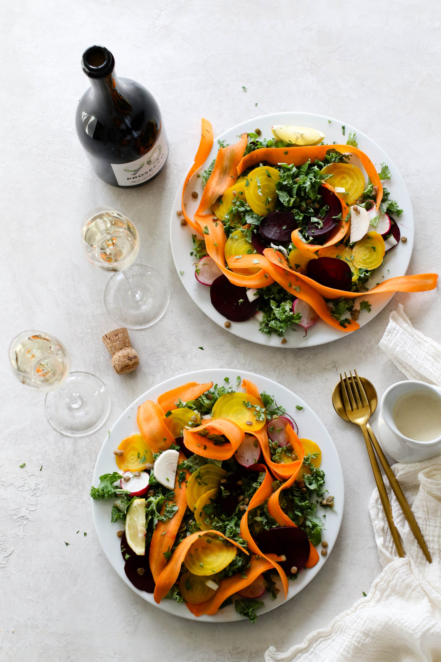 Roasted Beet Salad with Citrus Tahini & Prosecco