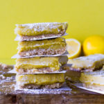 "Raw Lemon Pie Bars with ""Coco-Roon"" Crust by Flora & Vino"