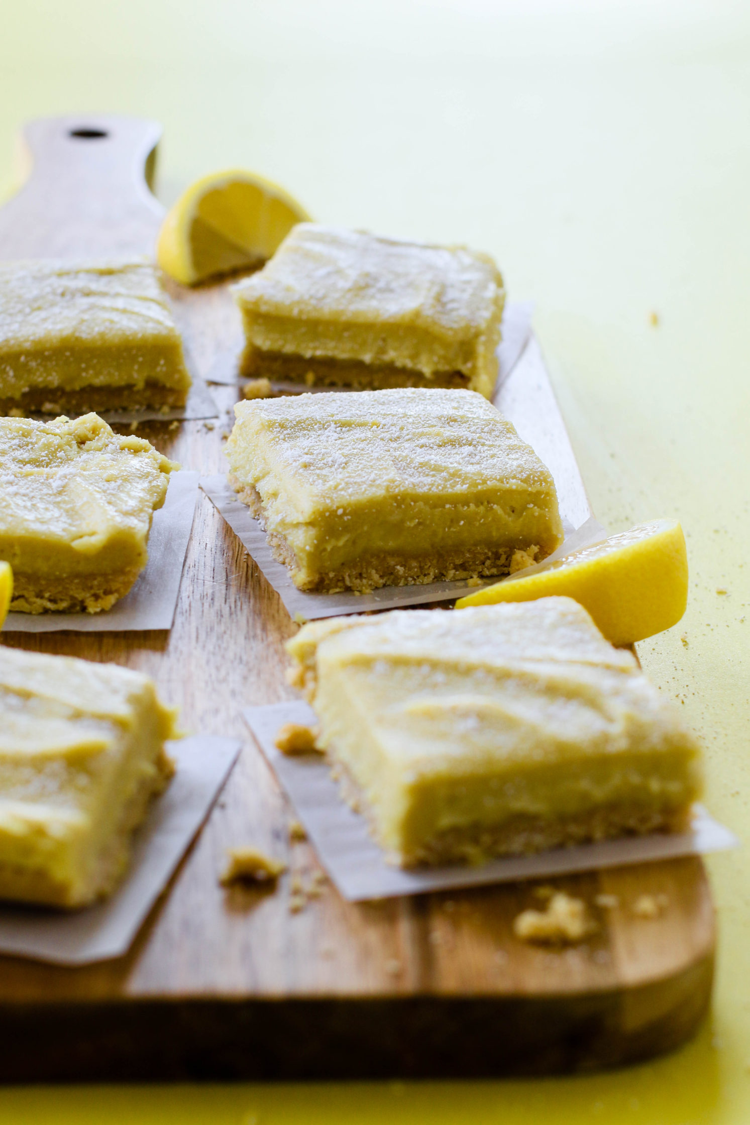 "Raw Lemon Pie Bars with ""Cocoroon"" Crust by Flora & Vino"