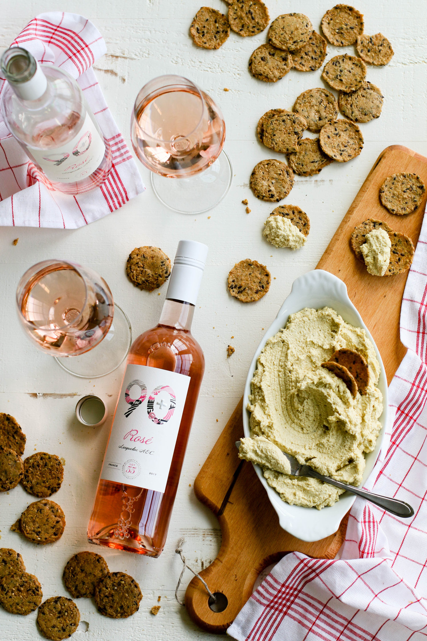 Easy Cashew Cheese & Rosé