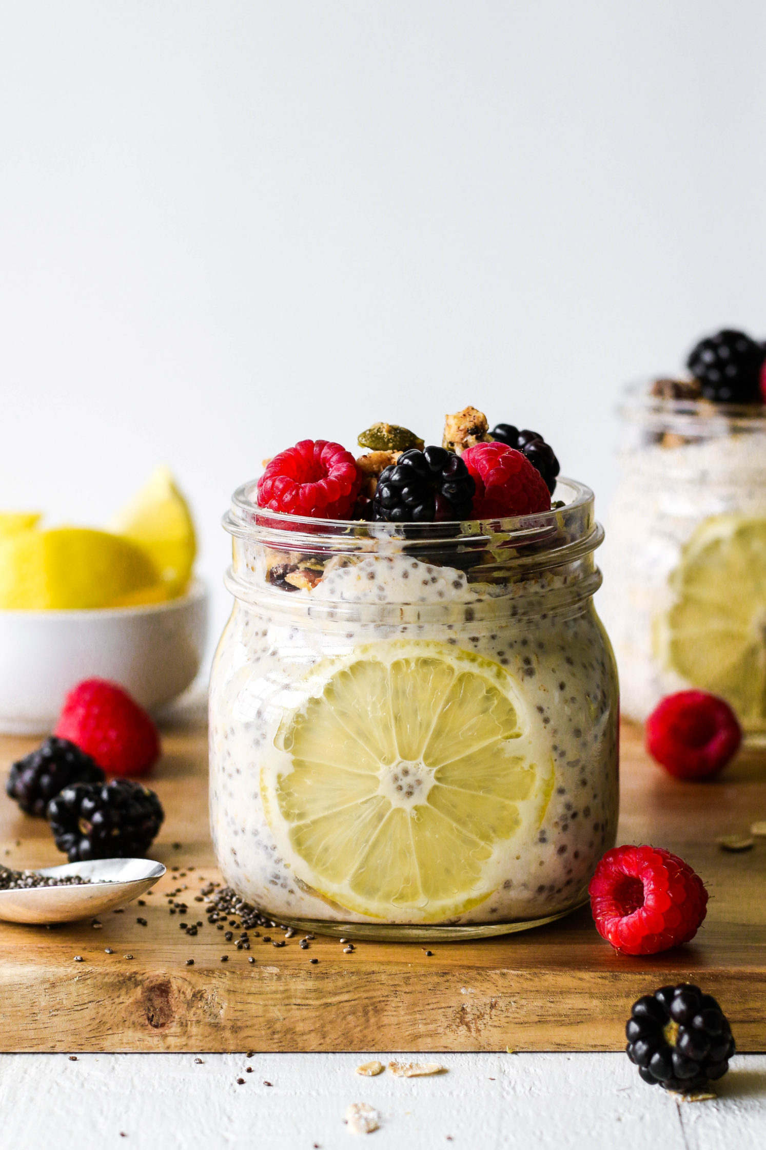 Lemon Berry Chia Overnight Oats