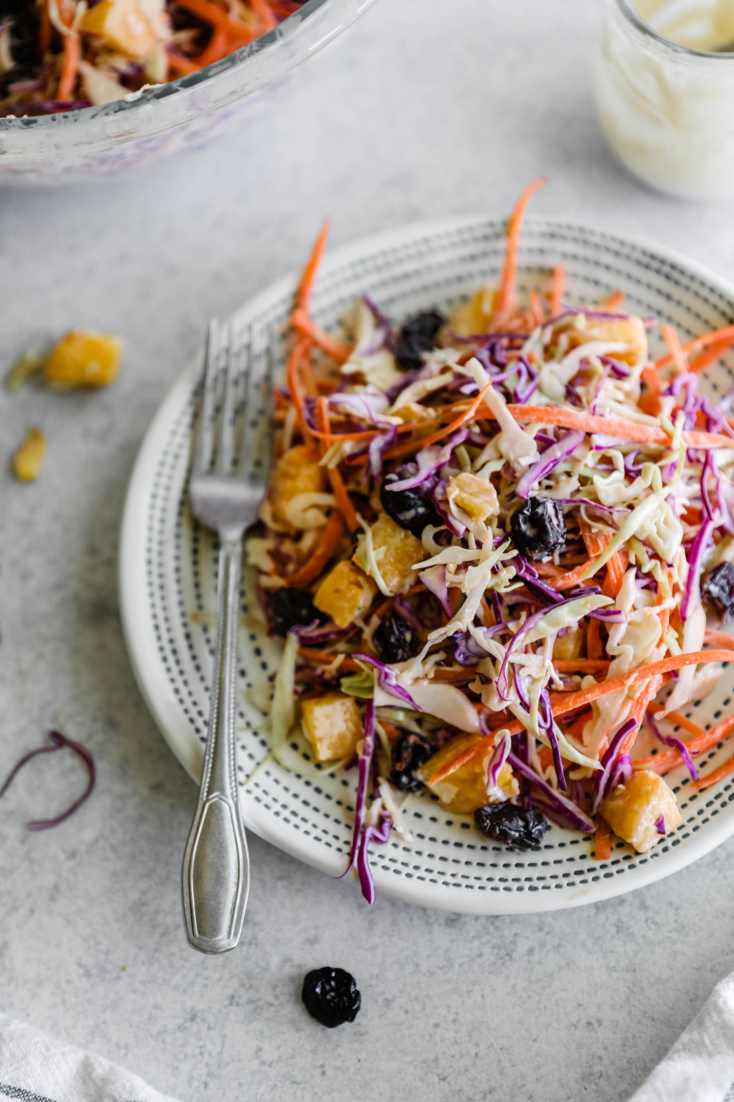 Vegan Pineapple Coleslaw with Cherries by Flora & Vino