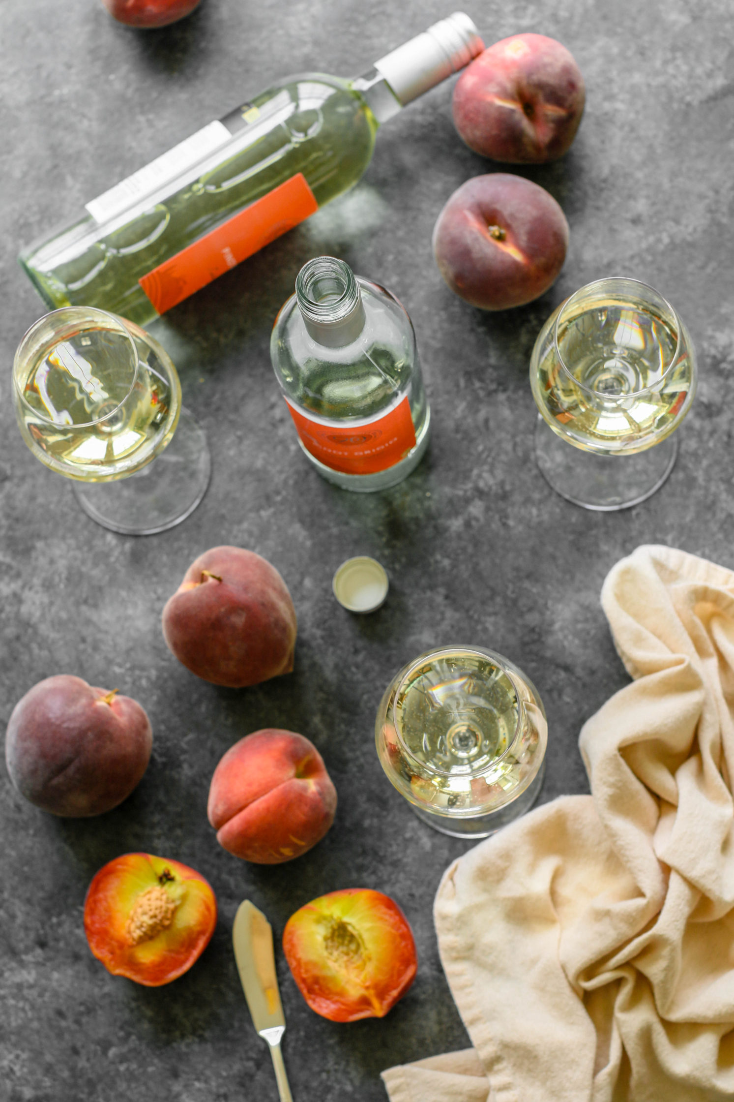 90+ Cellars Pinot Grigio and Peaches