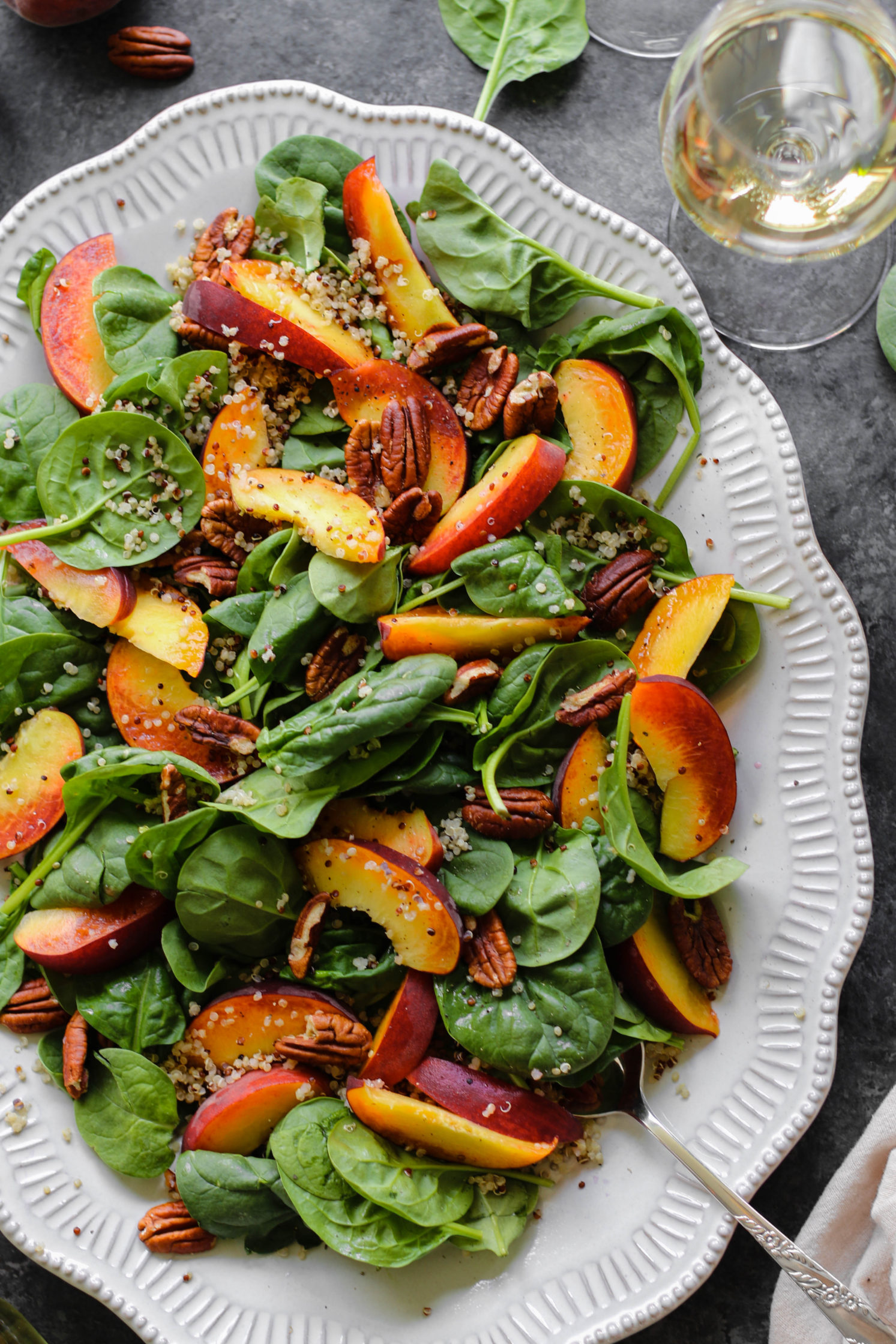 Peaches 'N' Quinoa Salad by Flora & Vino
