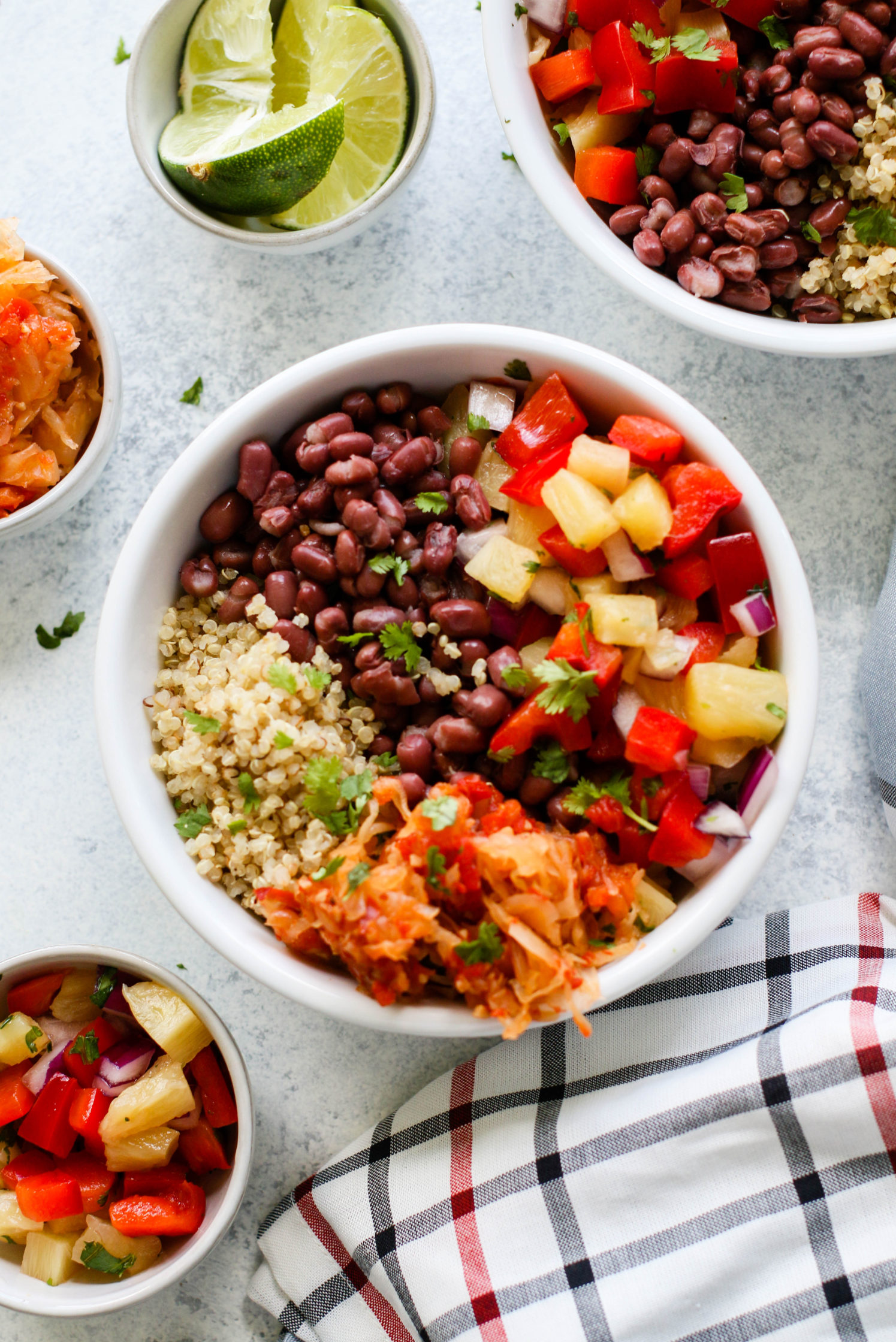 Adzuki Bean Bowl with Pineapple Salsa by Flora & Vino