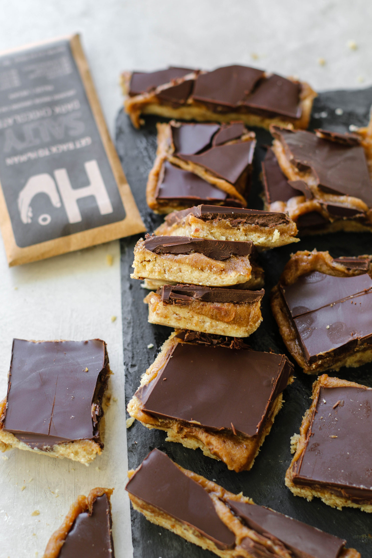 Raw Vegan Twix Bars by Flora & Vino