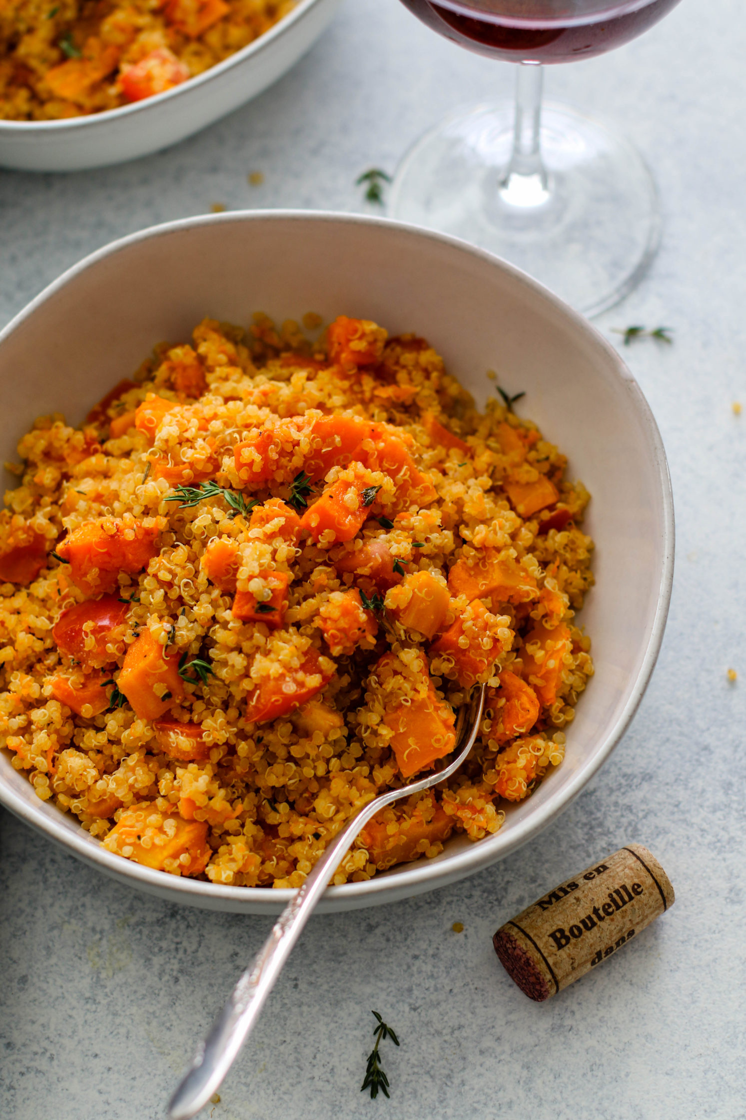 Roasted Butternut Squash Quinoa Risotto & Pinot Noir