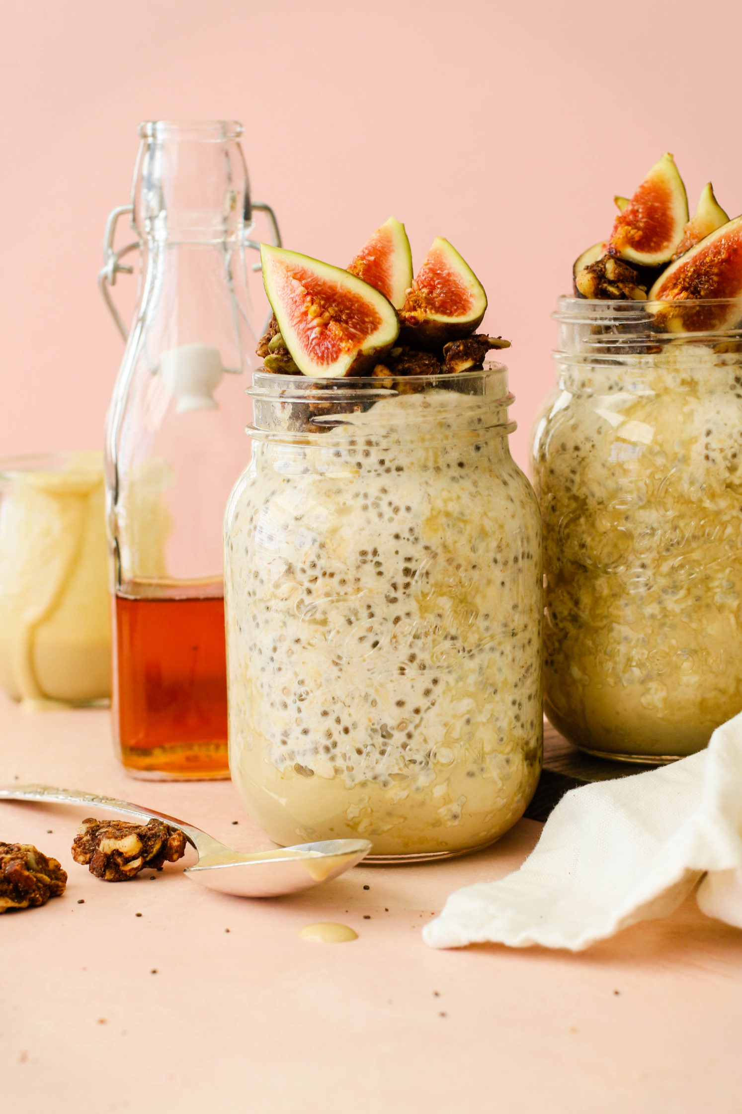 Maple Tahini Overnight Oats