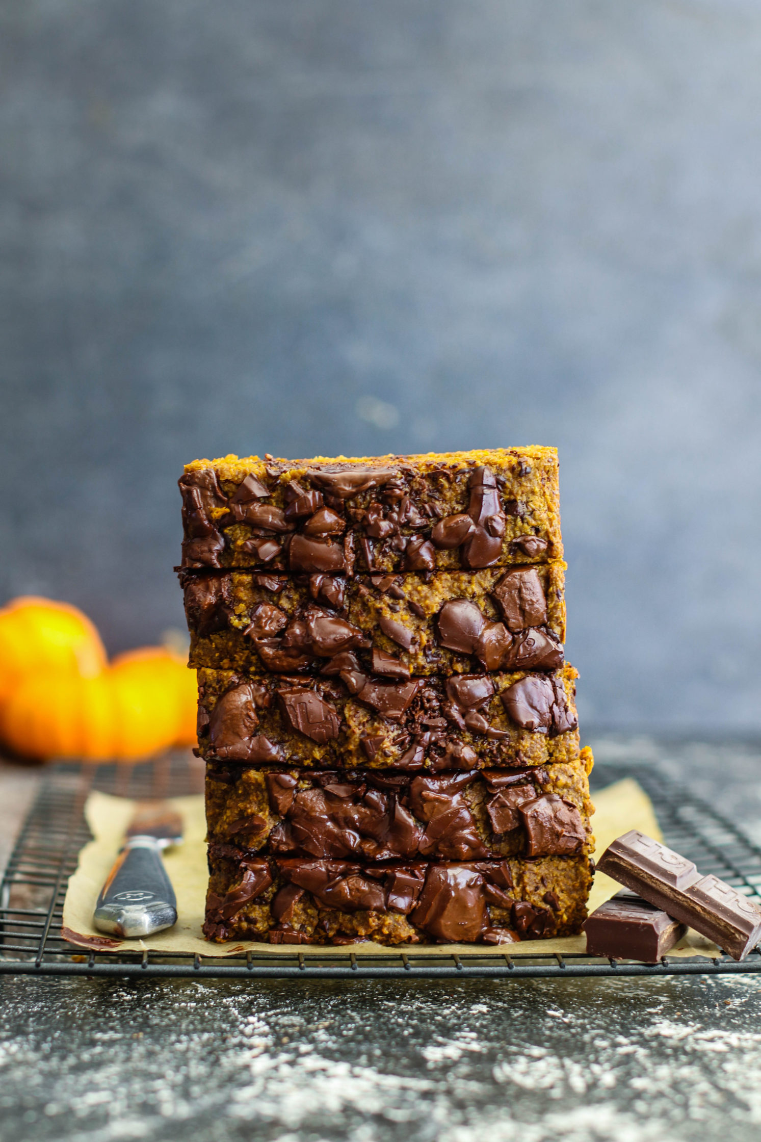 Pumpkin Chocolate Chunk Bread