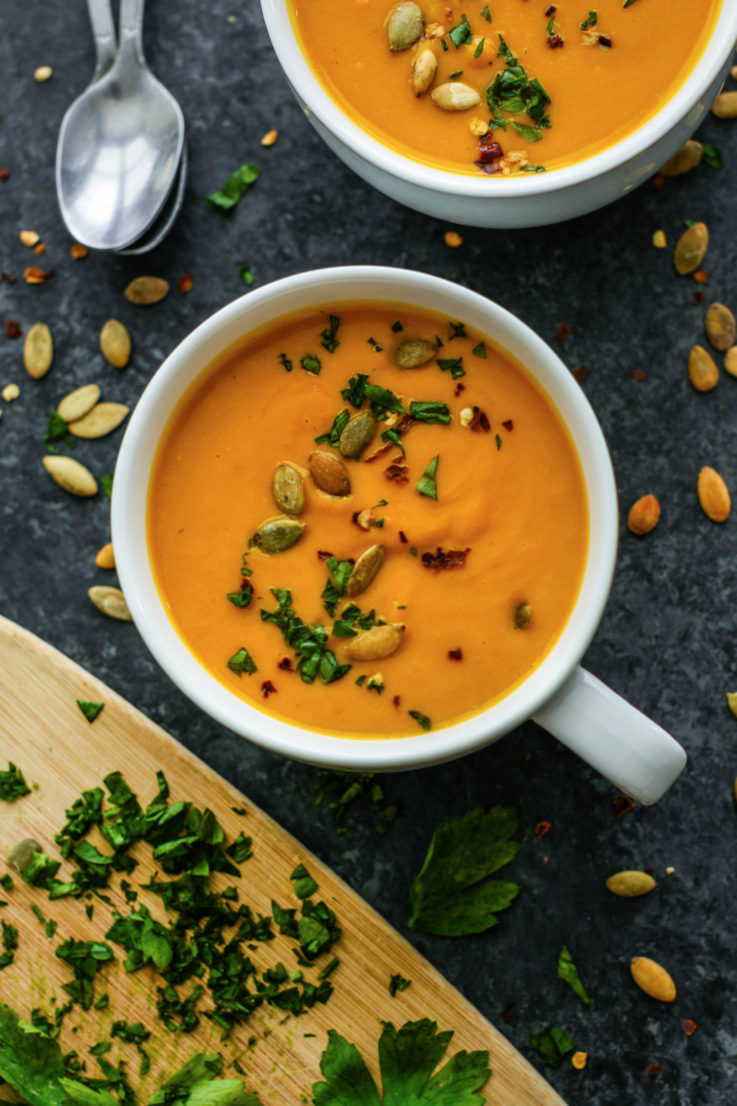 Roasted Pumpkin & Vegetable Soup