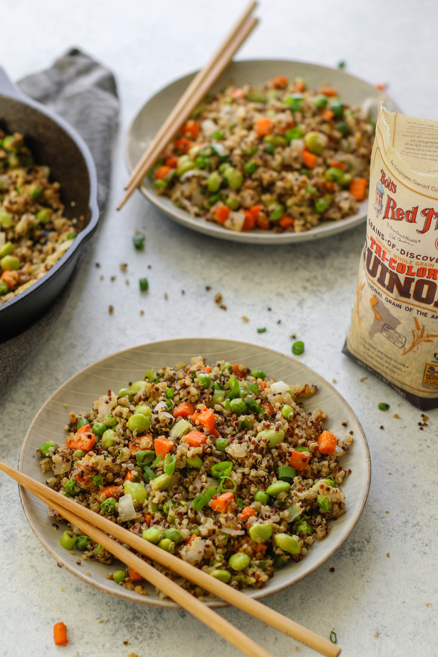 """Vegetable Quinoa Fried """"Rice"""" with Edamame by Flora & Vino"""