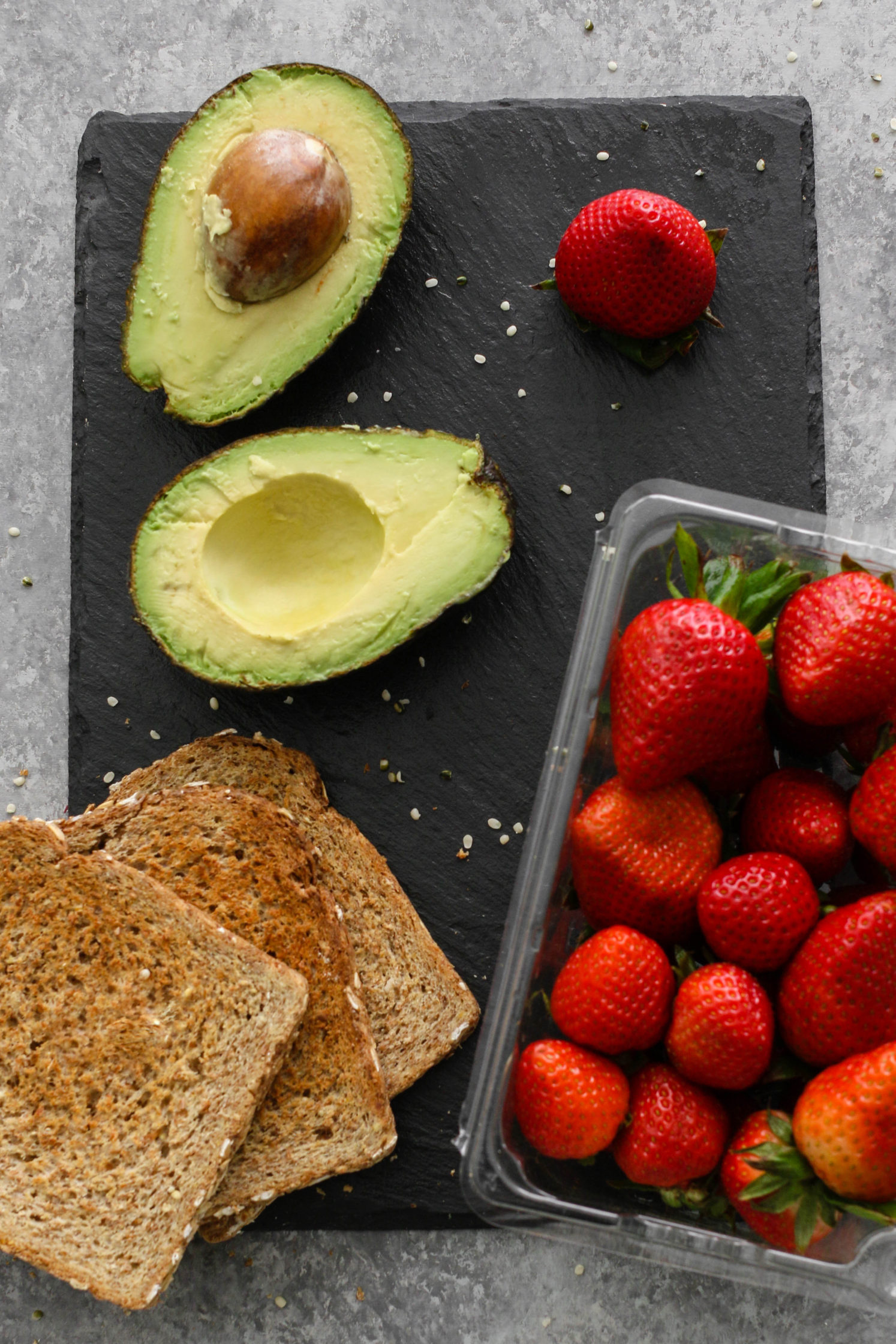Strawberry Hemp Heart Avocado Toast by Flora & Vino