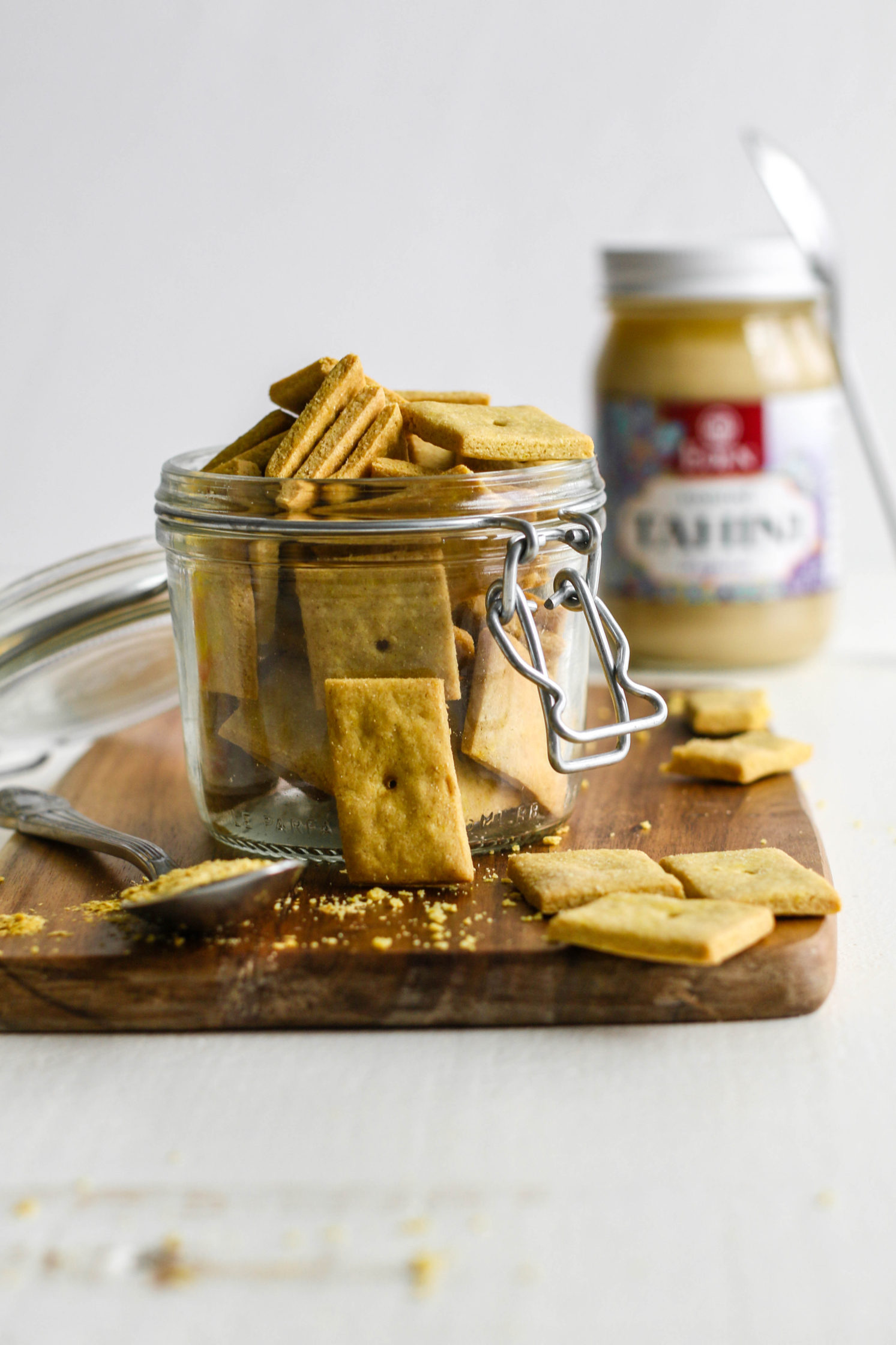 "Vegan Tahini ""Cheez-Its"" by Flora & Vino"