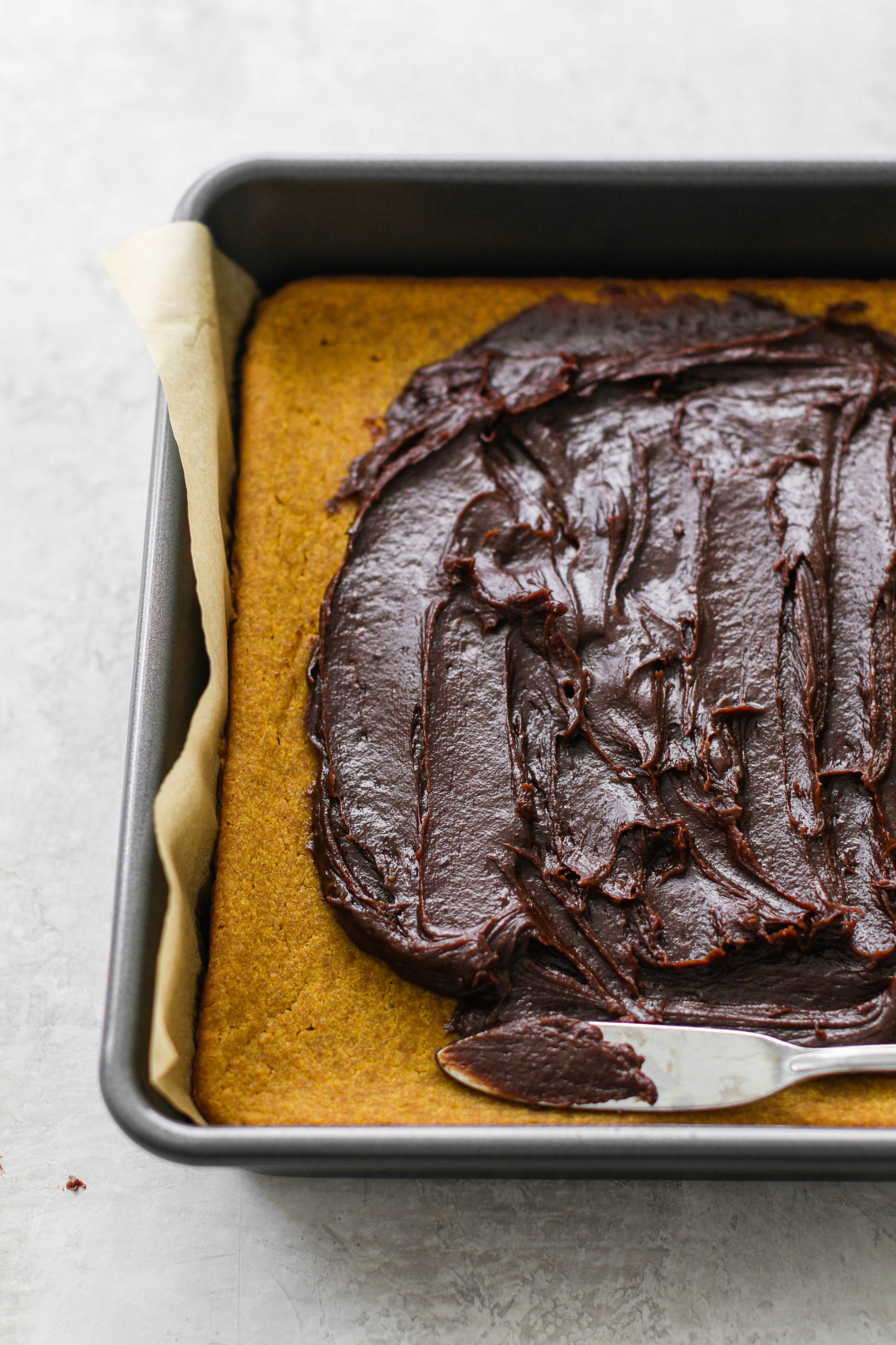 Yellow Cake with Chocolate SunButter Frosting