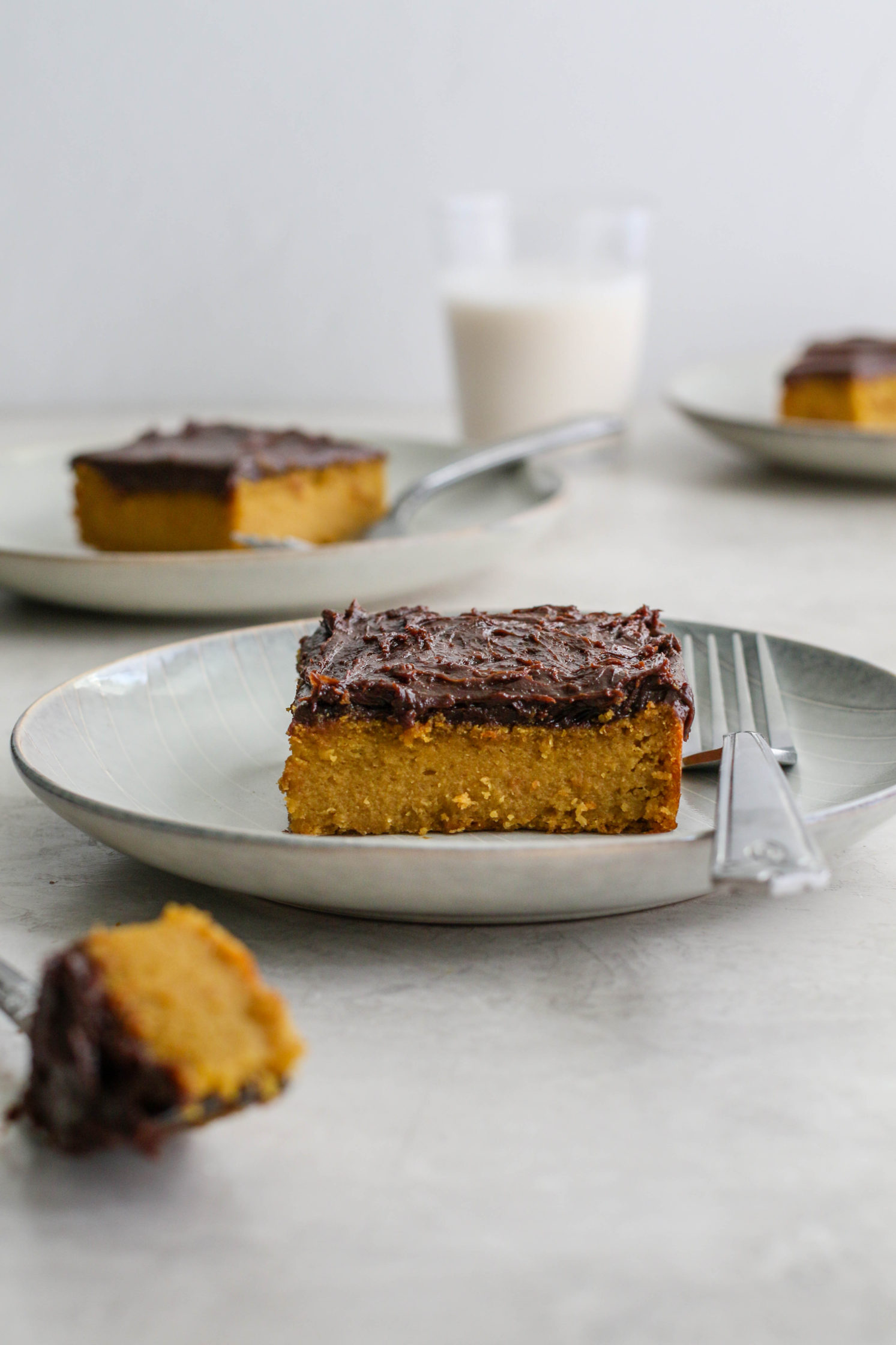 Yellow Cake with Chocolate SunButter Frosting by Flora & Vino