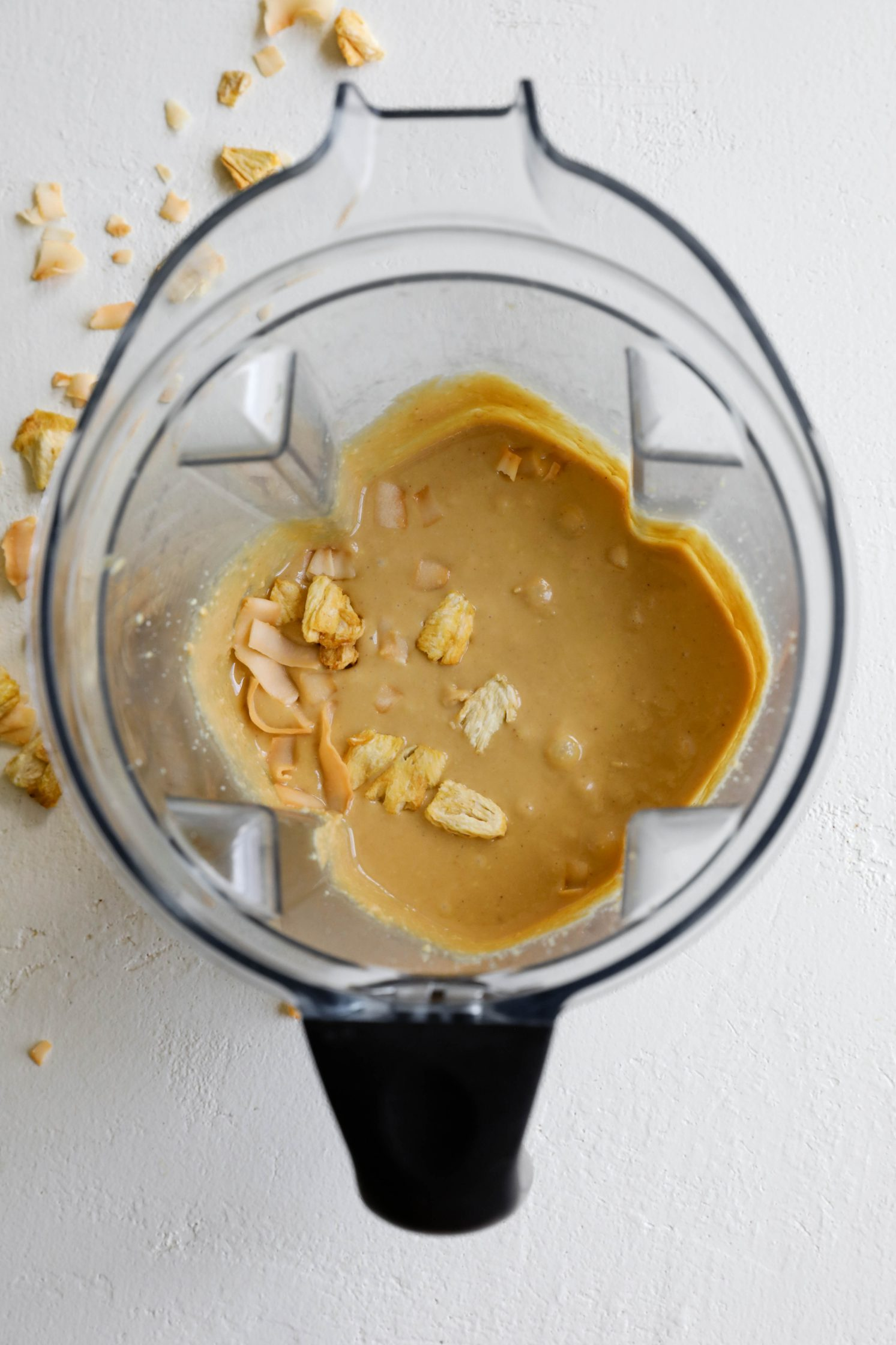 Piña Colada Peanut Butter in blender
