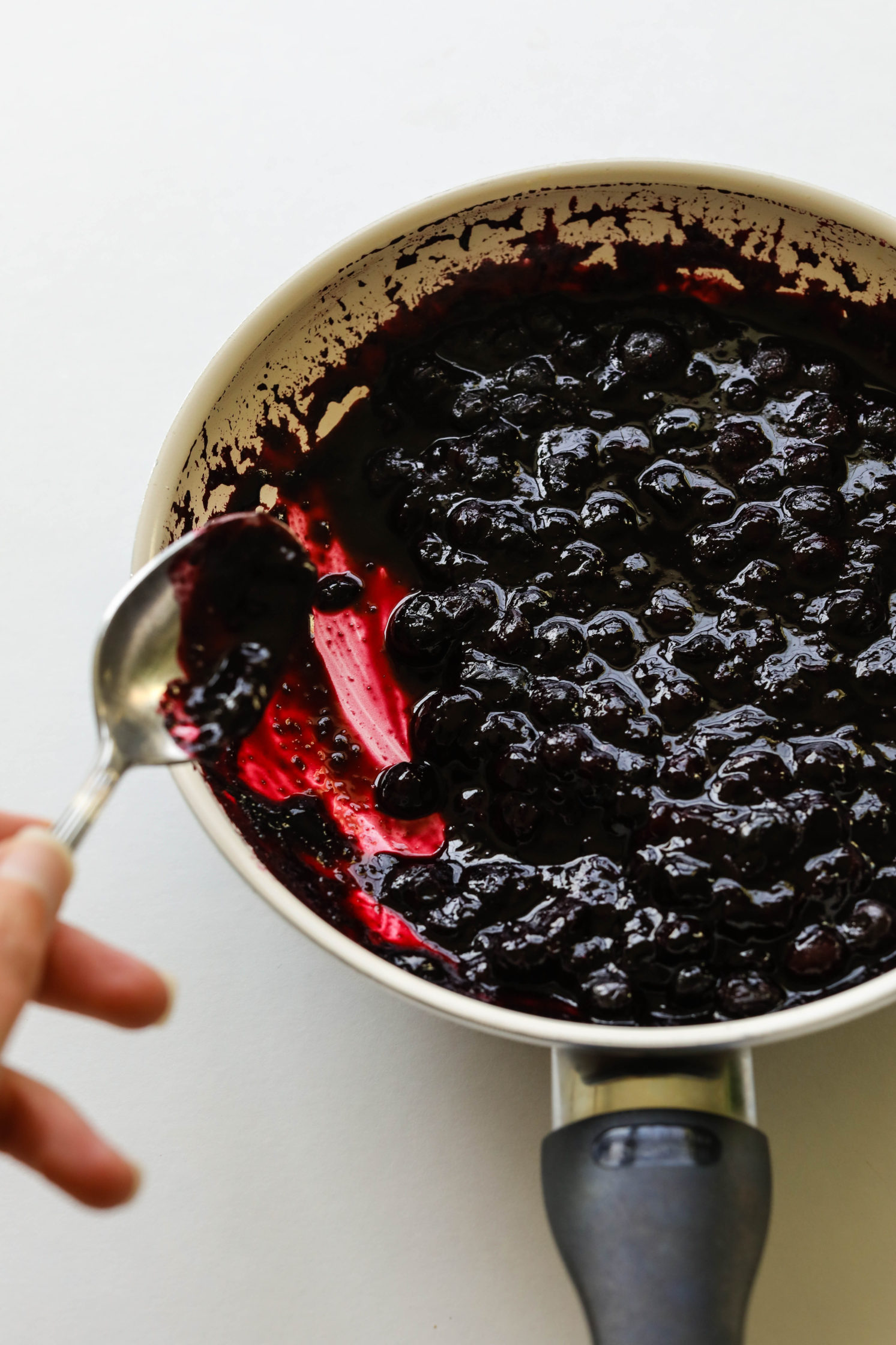 Blueberry Pie oatmeal compote