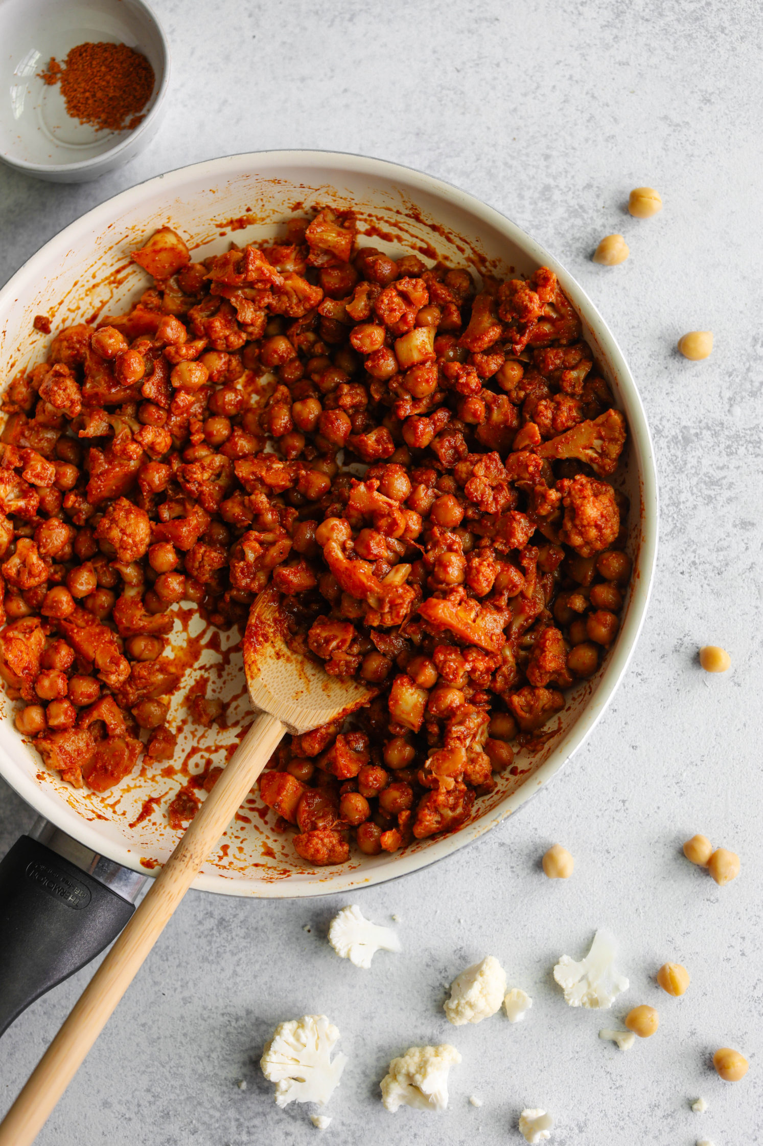 Cauliflower chickpea taco meat