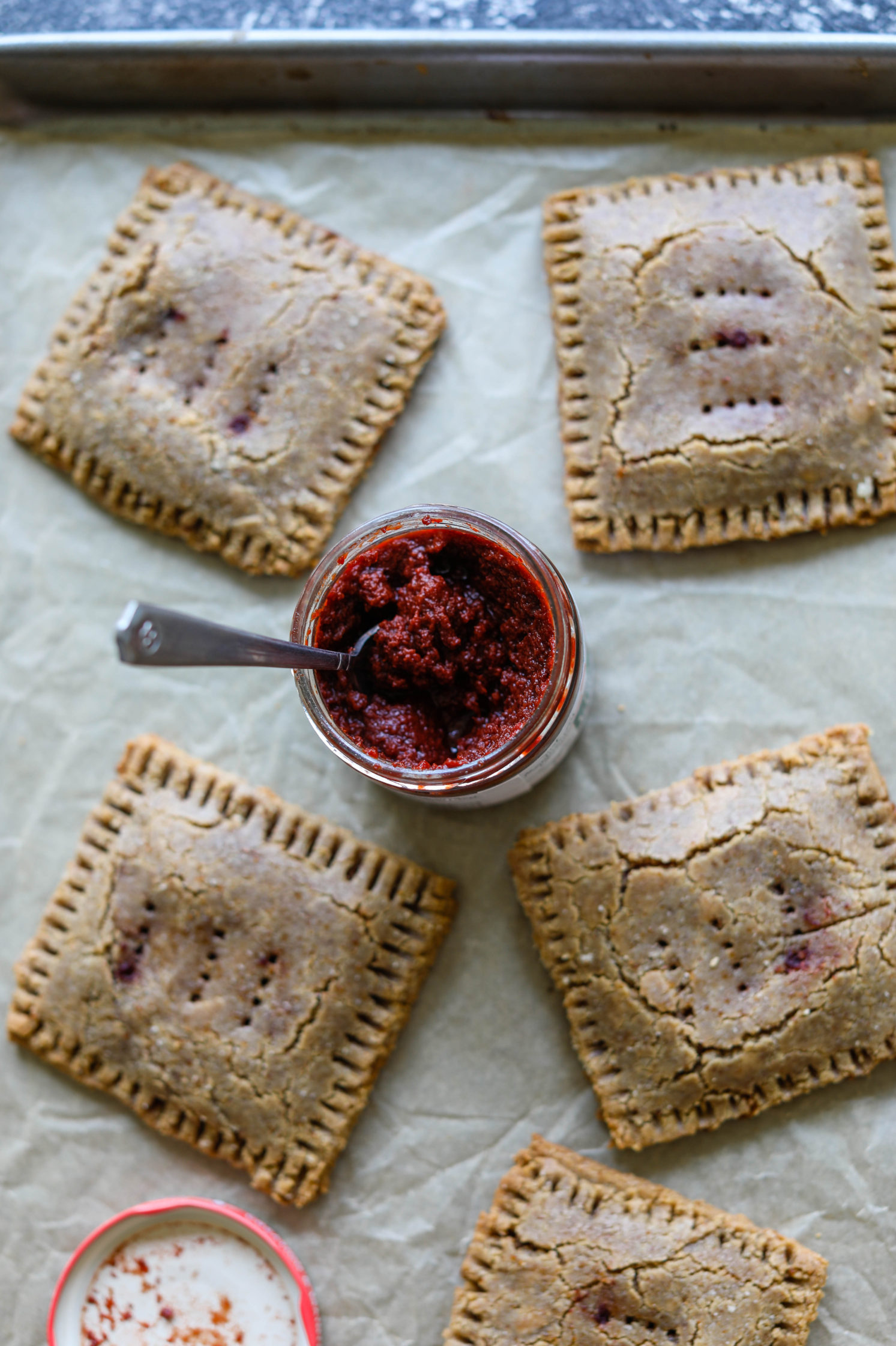 Cherry Almond Flour Pop-Tarts by Flora & Vino