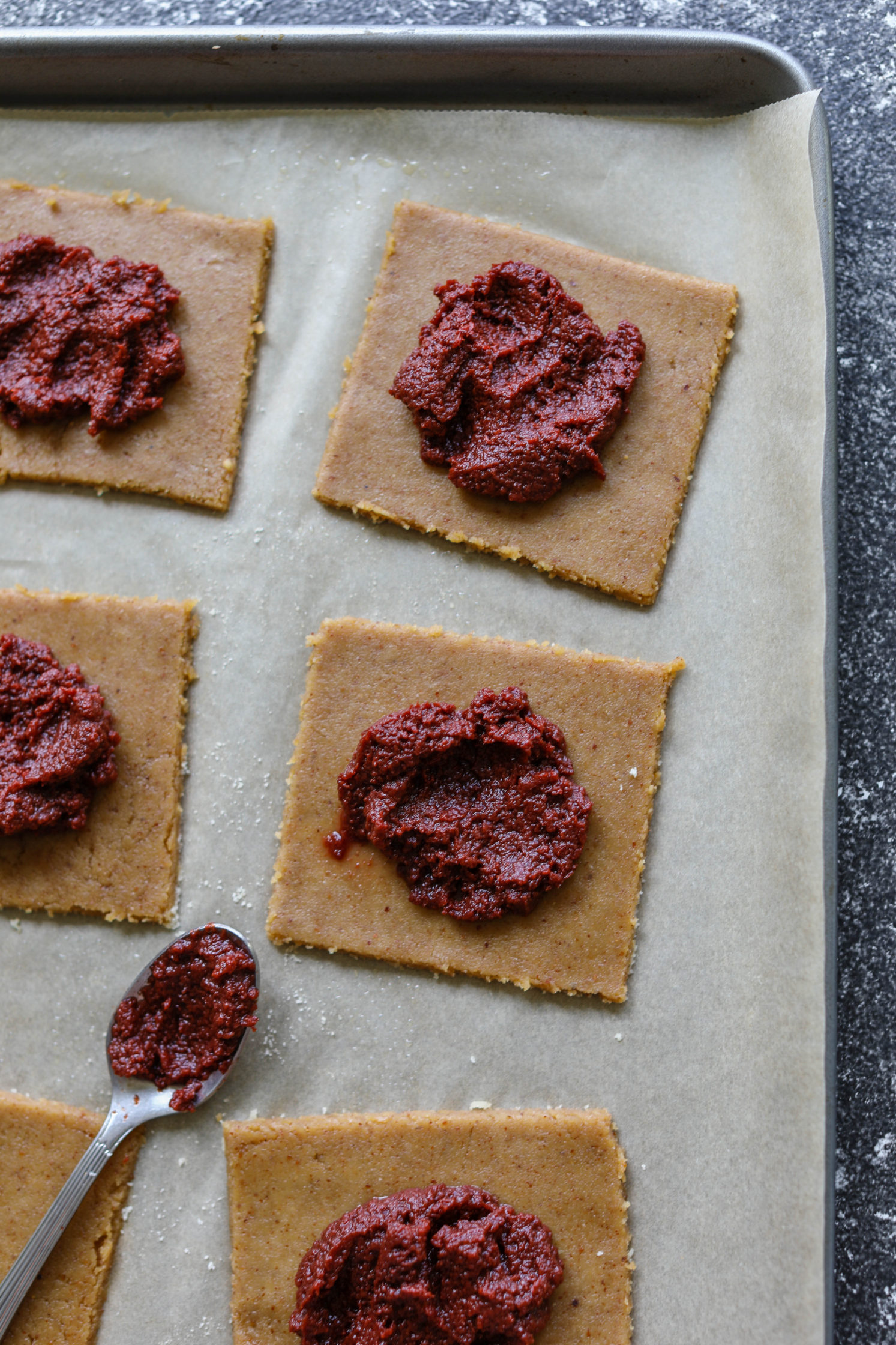 Cherry Almond Flour Pop-Tarts with cherry butter
