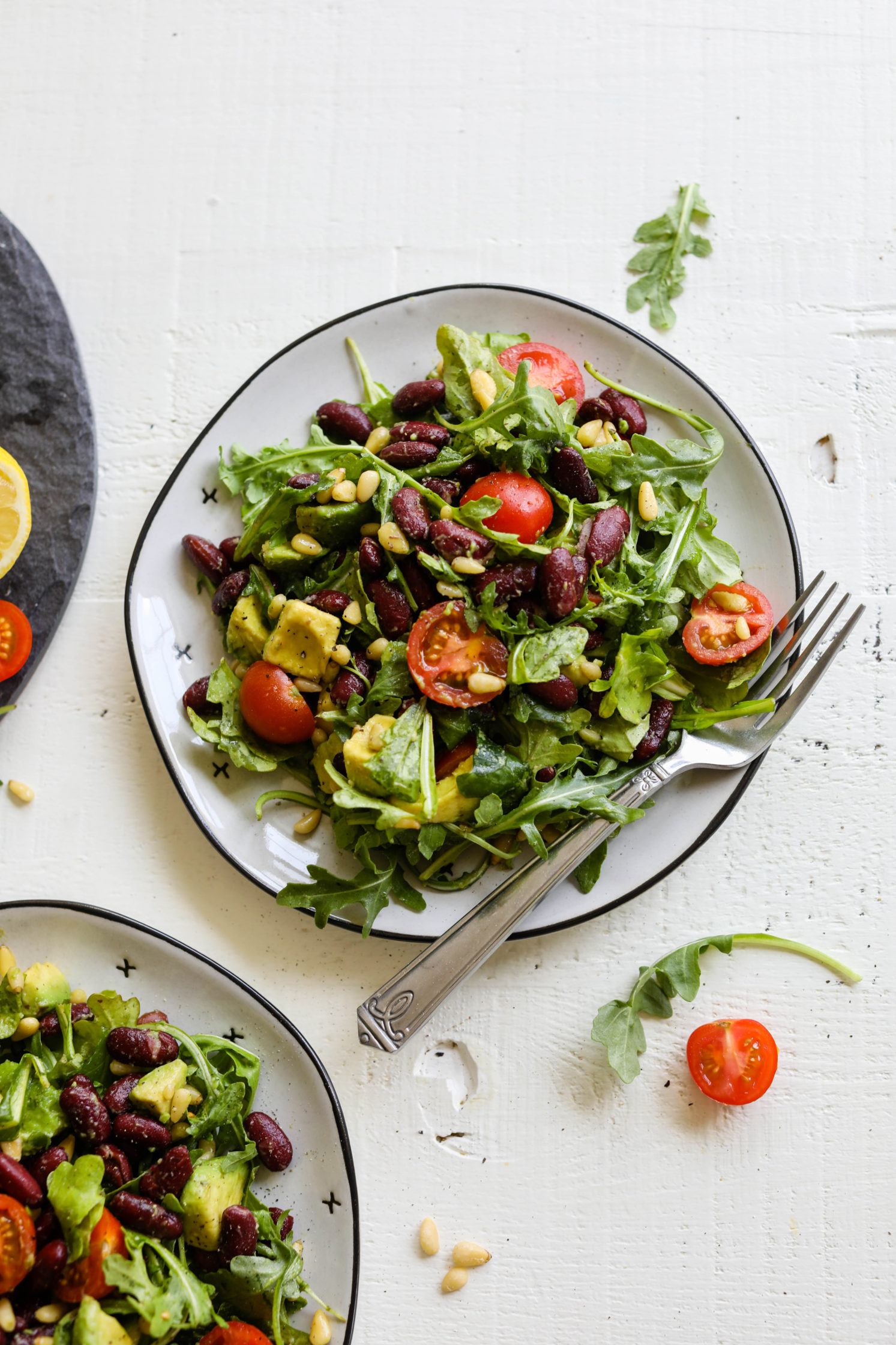 Kidney Bean Arugula Salad by Flora & Vino