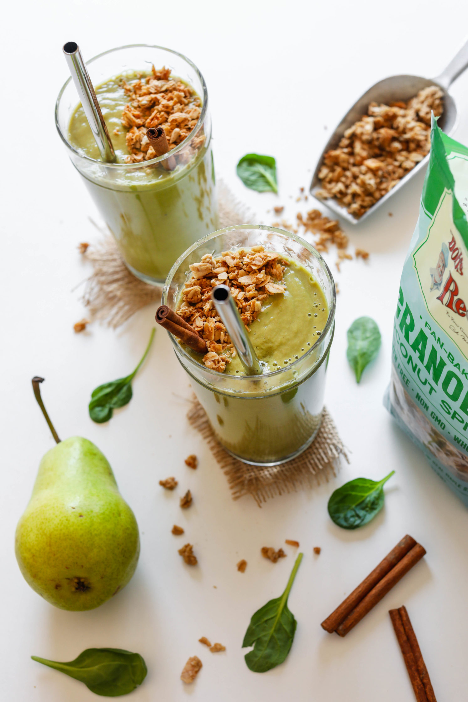 Spiced Green Pear Protein Shake by Flora & Vino