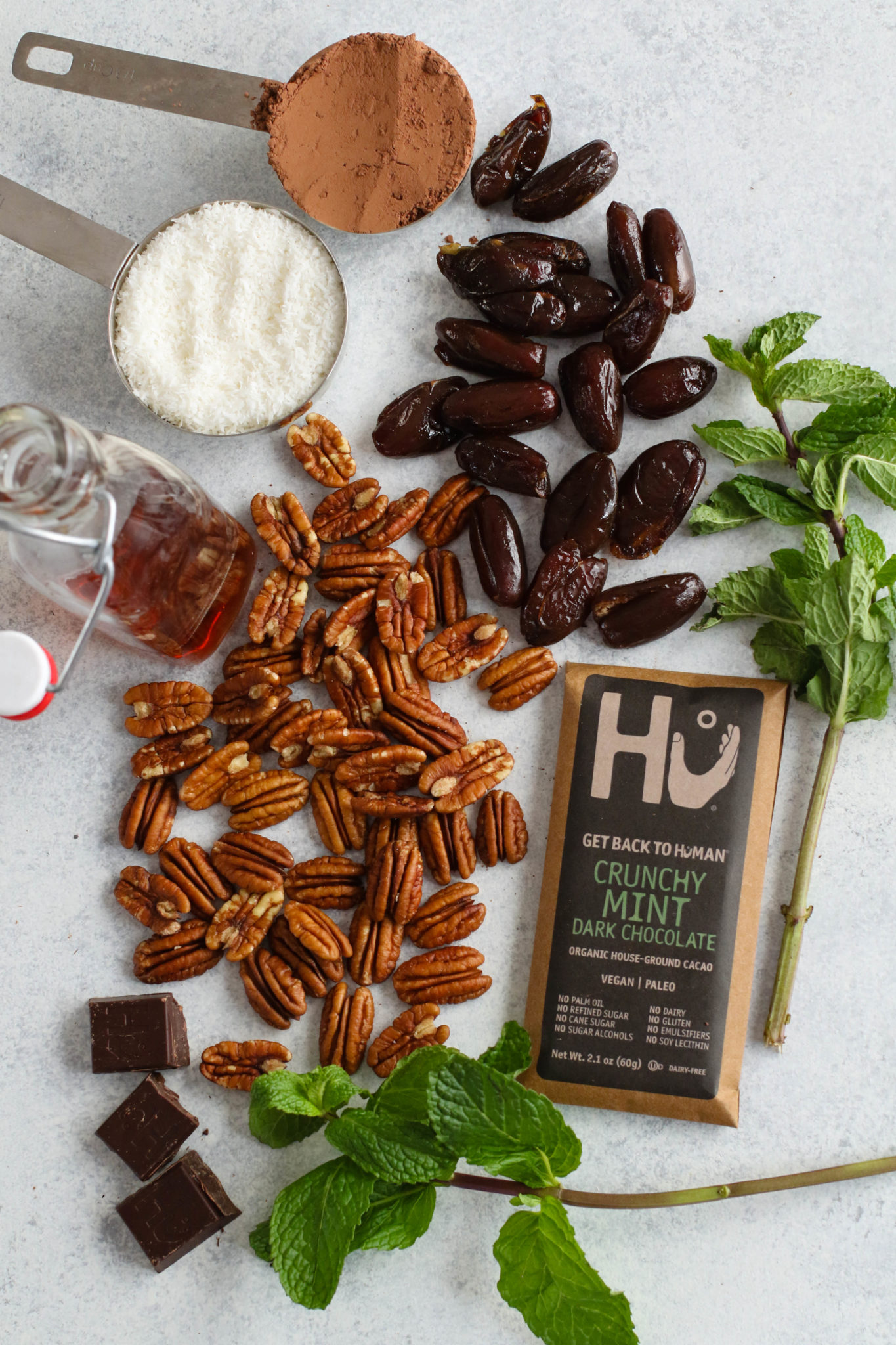 Mint Dark Chocolate Coconut Layer Bar Ingredients