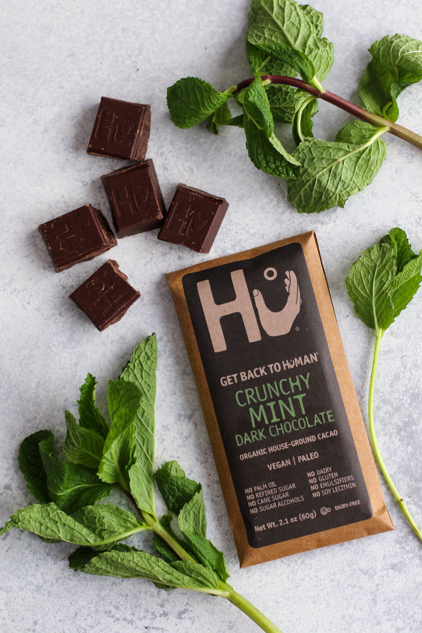 Hu Kitchen Crunchy Mint Dark Chocolate