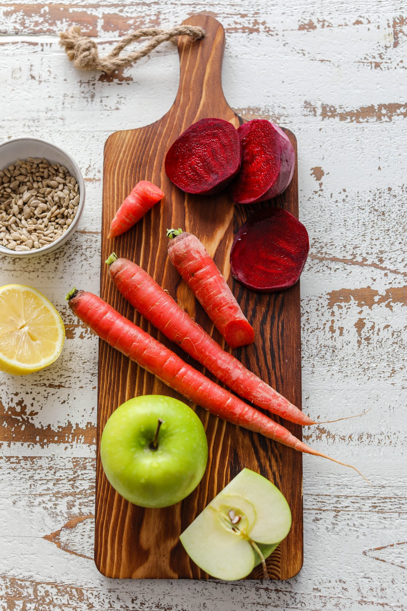 Red Carrot, Apple, & Beet Detox Salad Ingredients