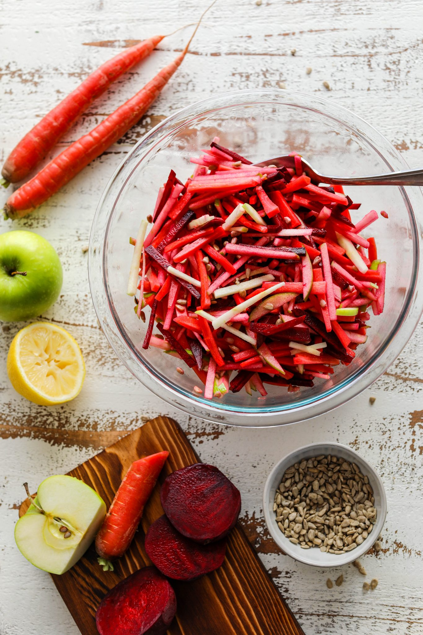 Red Carrot, Apple, & Beet Detox Salad by Flora & Vino