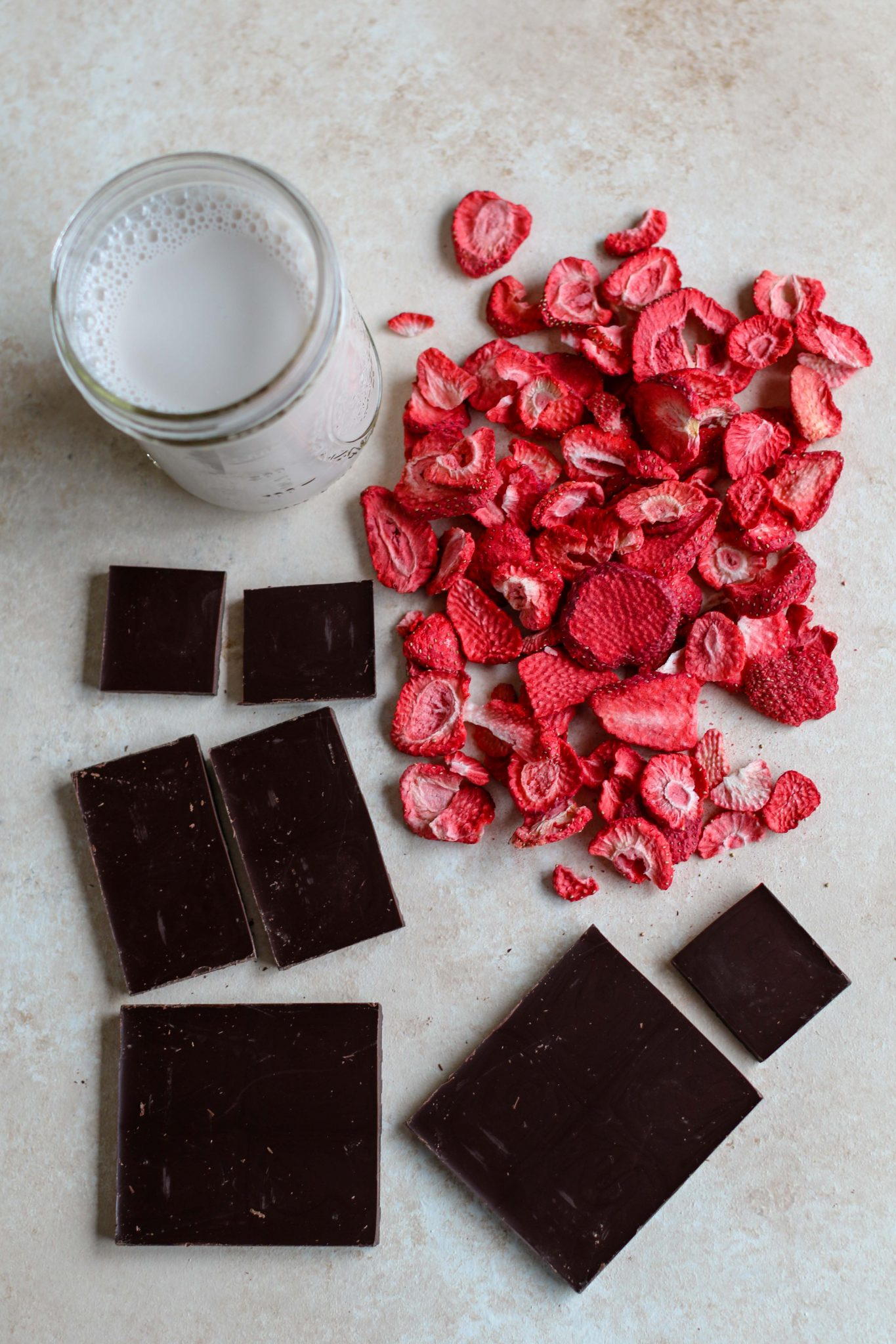 3-Ingredient Chocolate Strawberry Truffle Ingredients
